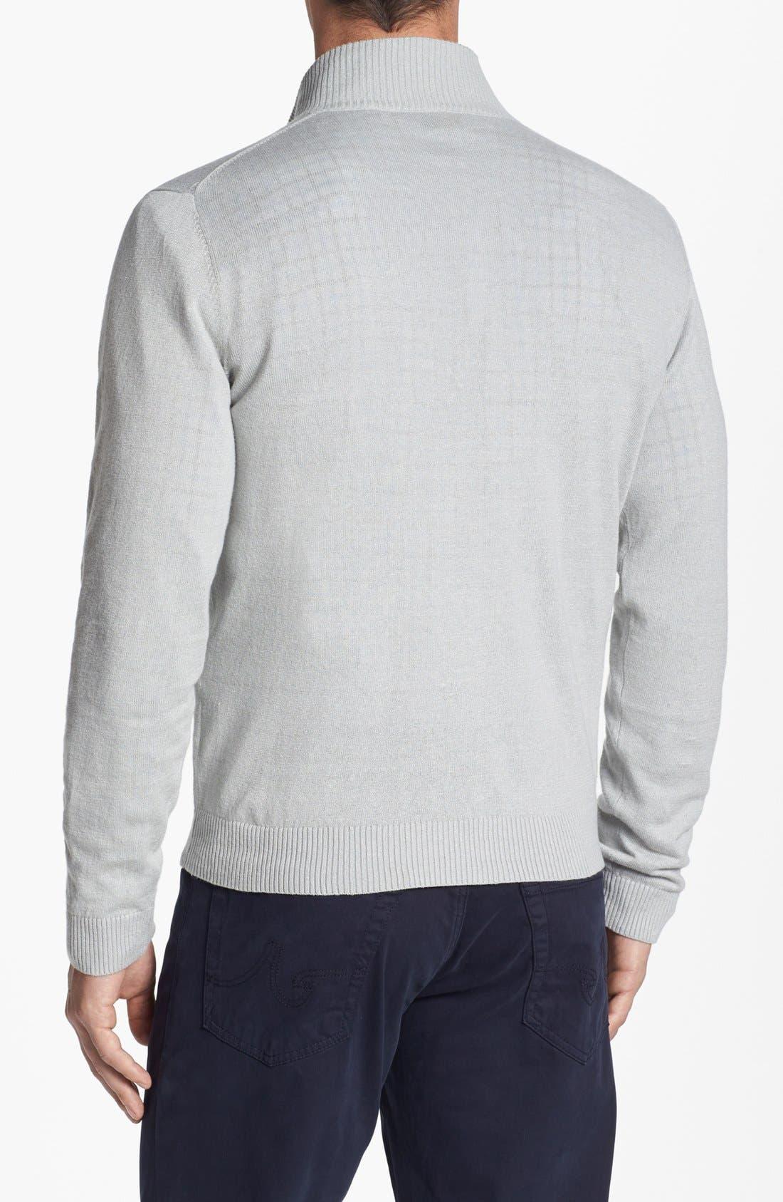 Alternate Image 2  - Robert Talbott Mock Neck Linen Blend Sweater