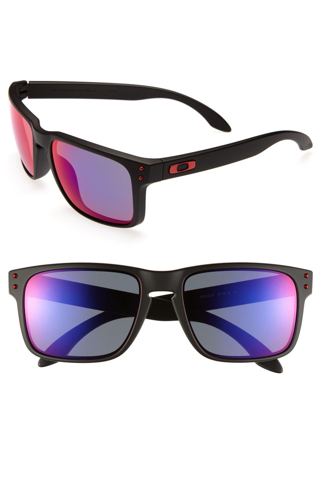 'Holbrook' 55mm Sunglasses,                         Main,                         color, Matte Black
