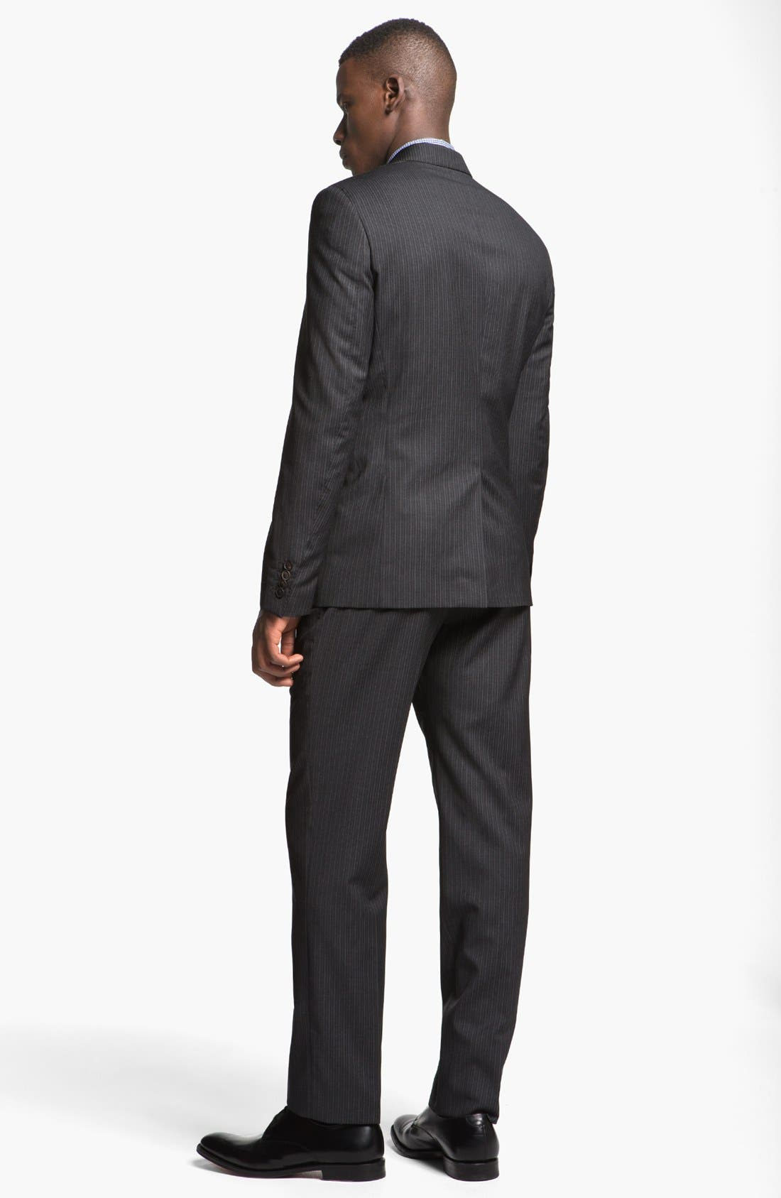Alternate Image 3  - Paul Smith London Slim Fit Shadow Pinstripe Wool Suit