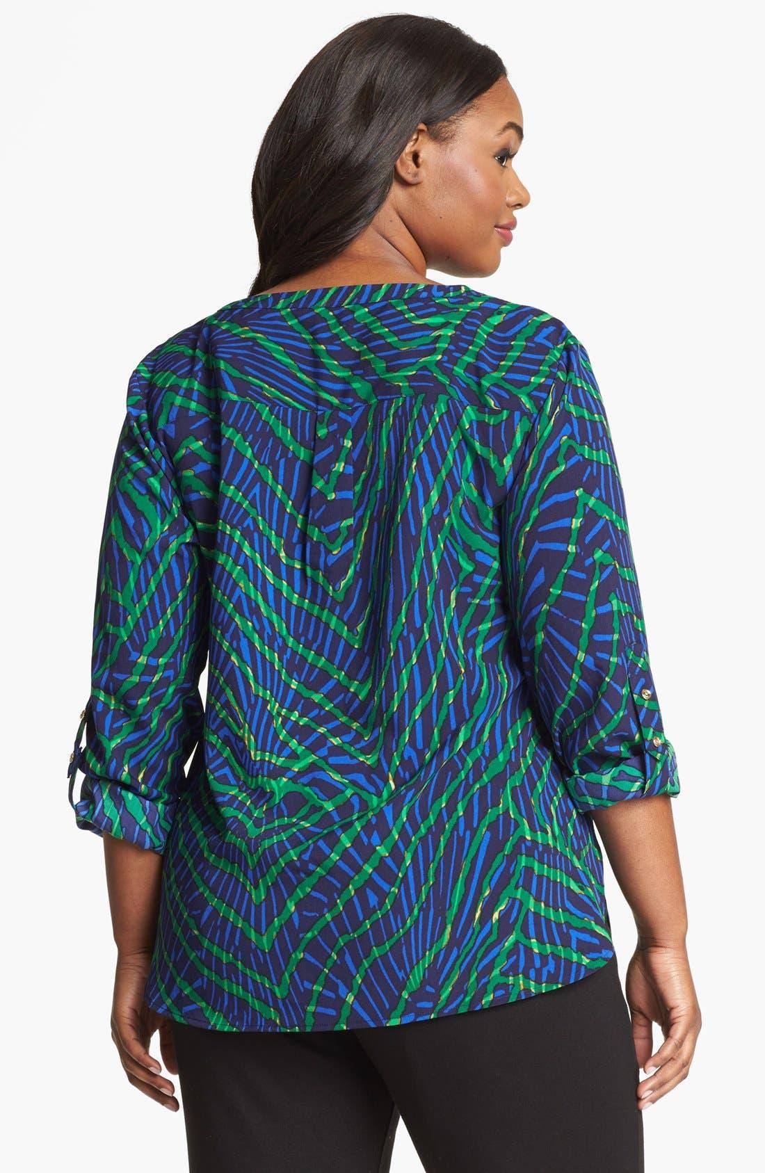 Alternate Image 2  - Anne Klein 'Reef' Print Shirt (Plus Size)