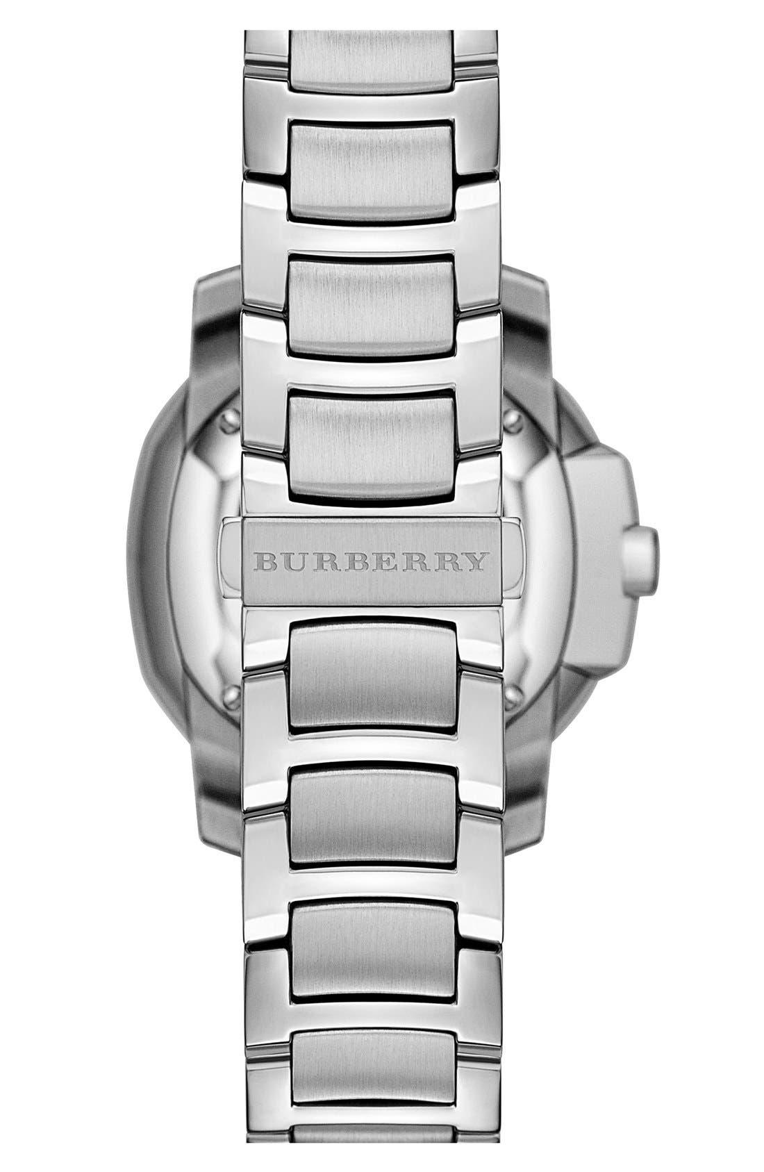 Alternate Image 3  - Burberry The Britain Diamond Dial Bracelet Watch, 34mm