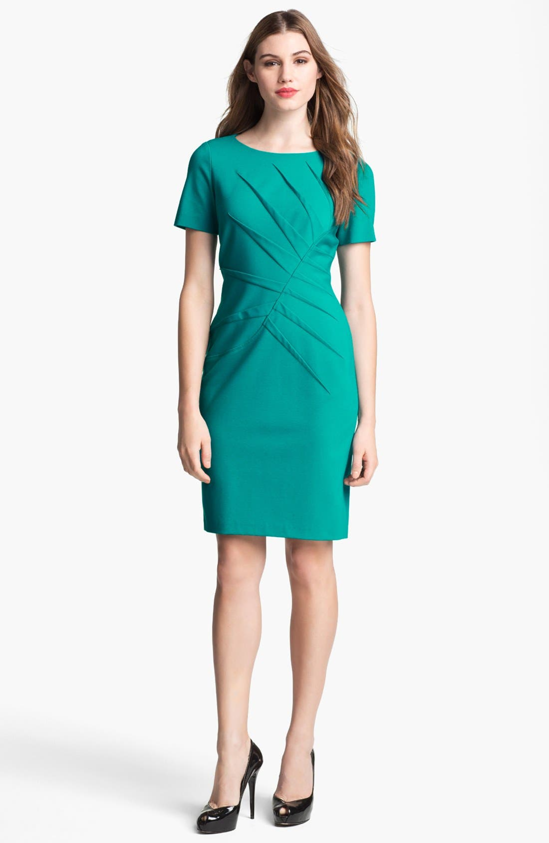 Alternate Image 1 Selected - Adrianna Papell Side Tucked Sheath Dress