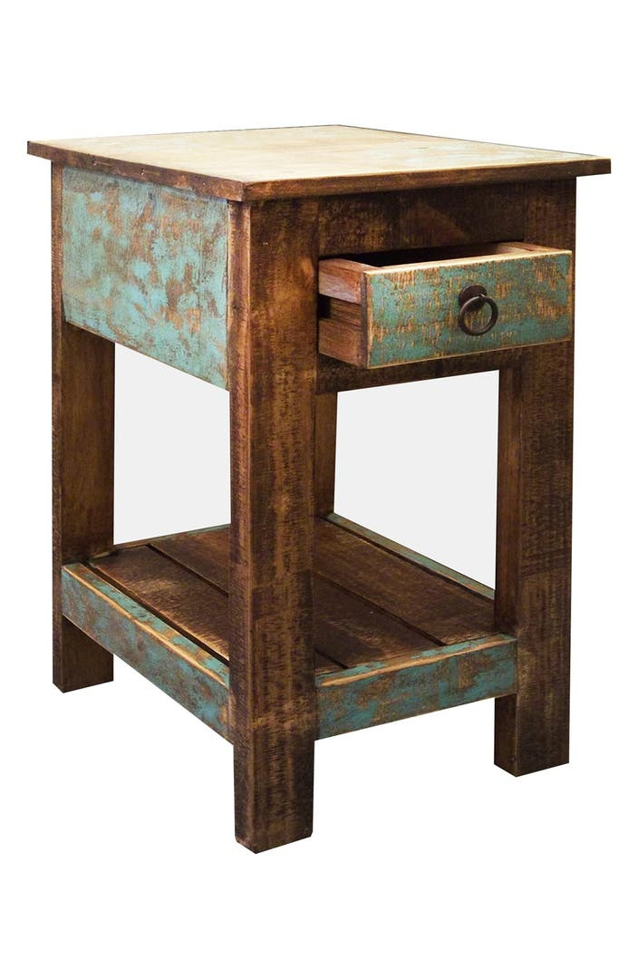 Side Table: Small Rustic Side Table