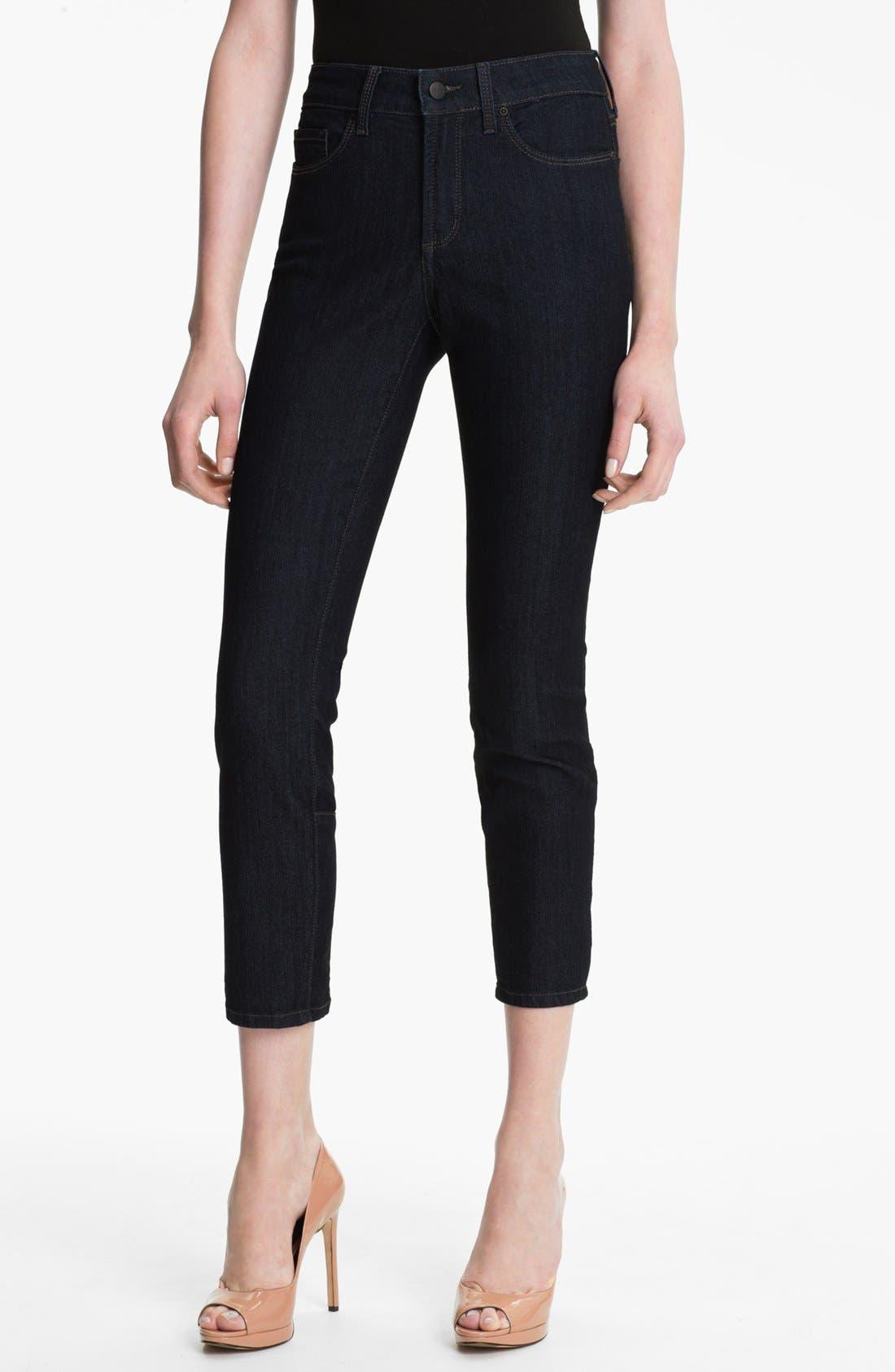 Alternate Image 1 Selected - NYDJ 'Jill' Zip Hem Stretch Crop Jeans (Petite)