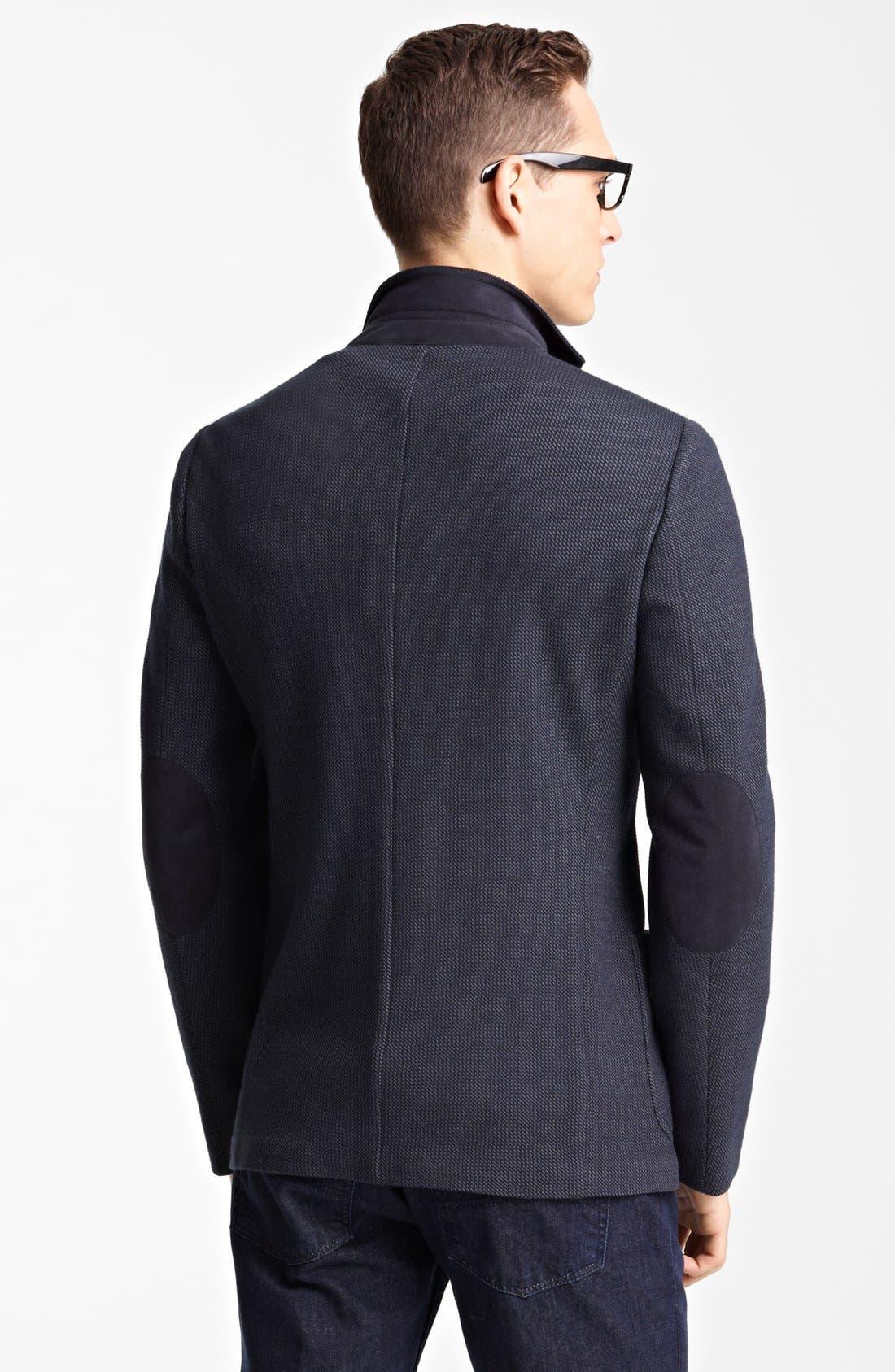 Alternate Image 2  - Armani Collezioni 'Linea' Tic Weave Sportcoat