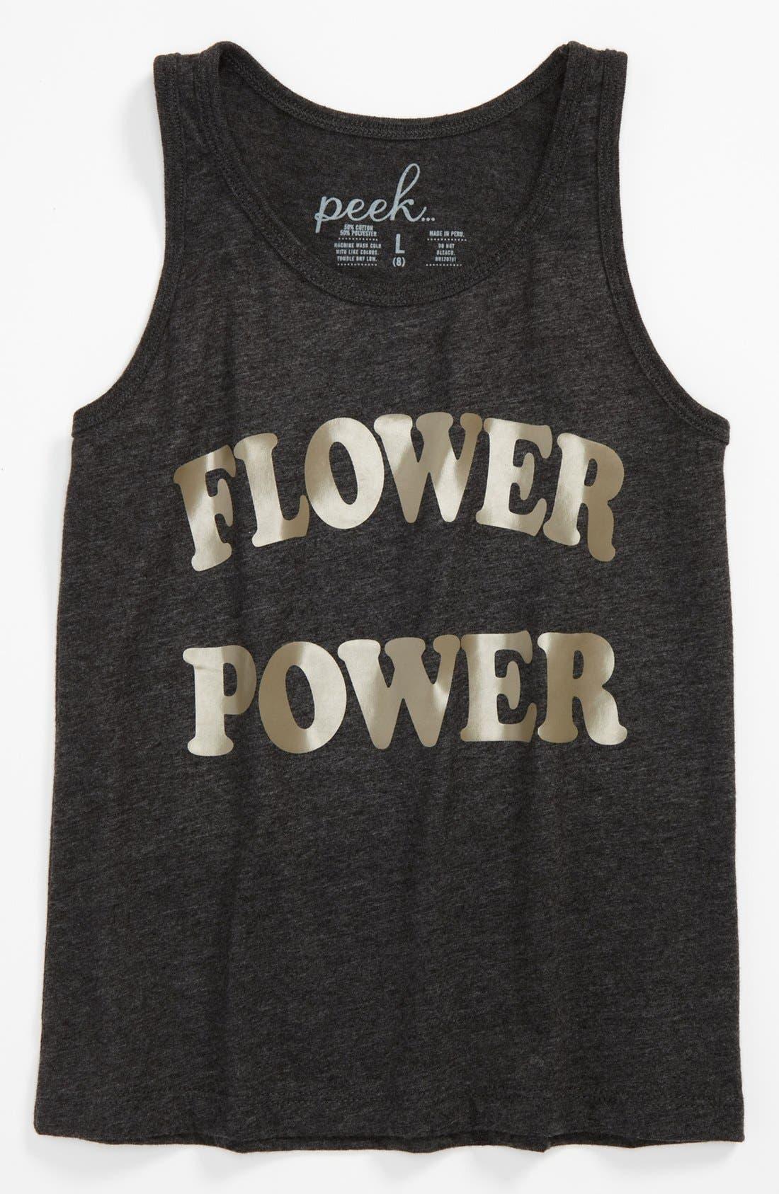 Main Image - Peek 'Flower Power' Tank Top (Toddler, Little Girls & Big Girls)