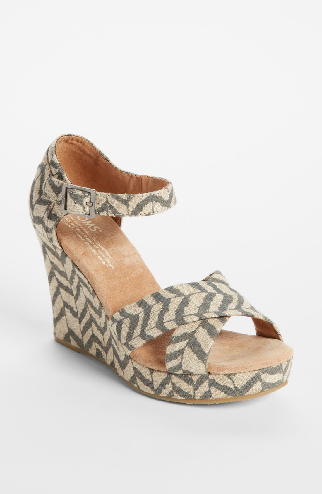 Alternate Image 1 Selected - TOMS 'Classic - Zebra Zag' Wedge