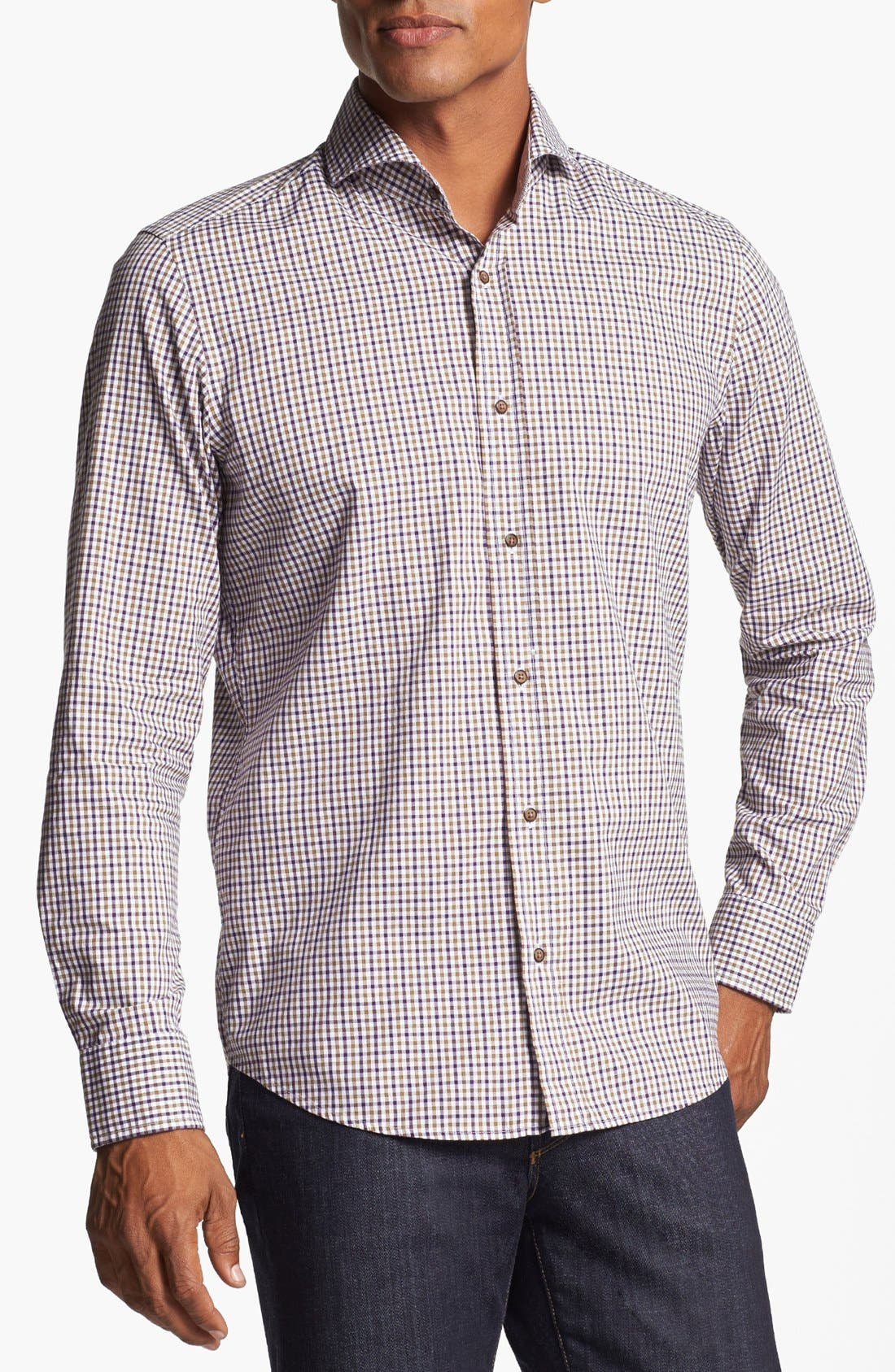 Alternate Image 1 Selected - BOSS HUGO BOSS 'Sean' Regular Fit Sport Shirt