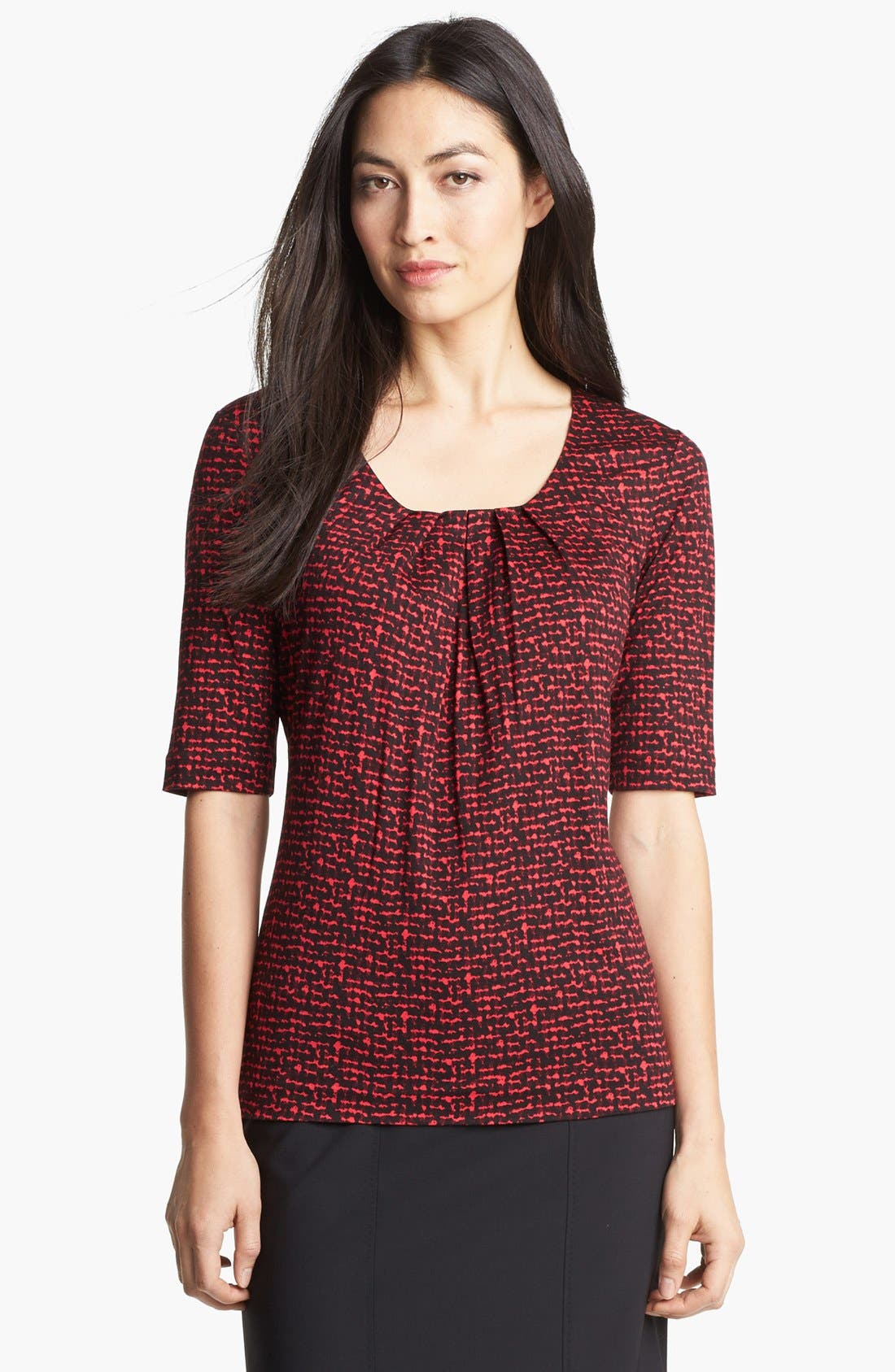 Alternate Image 1 Selected - BOSS HUGO BOSS Pleat Neck Top