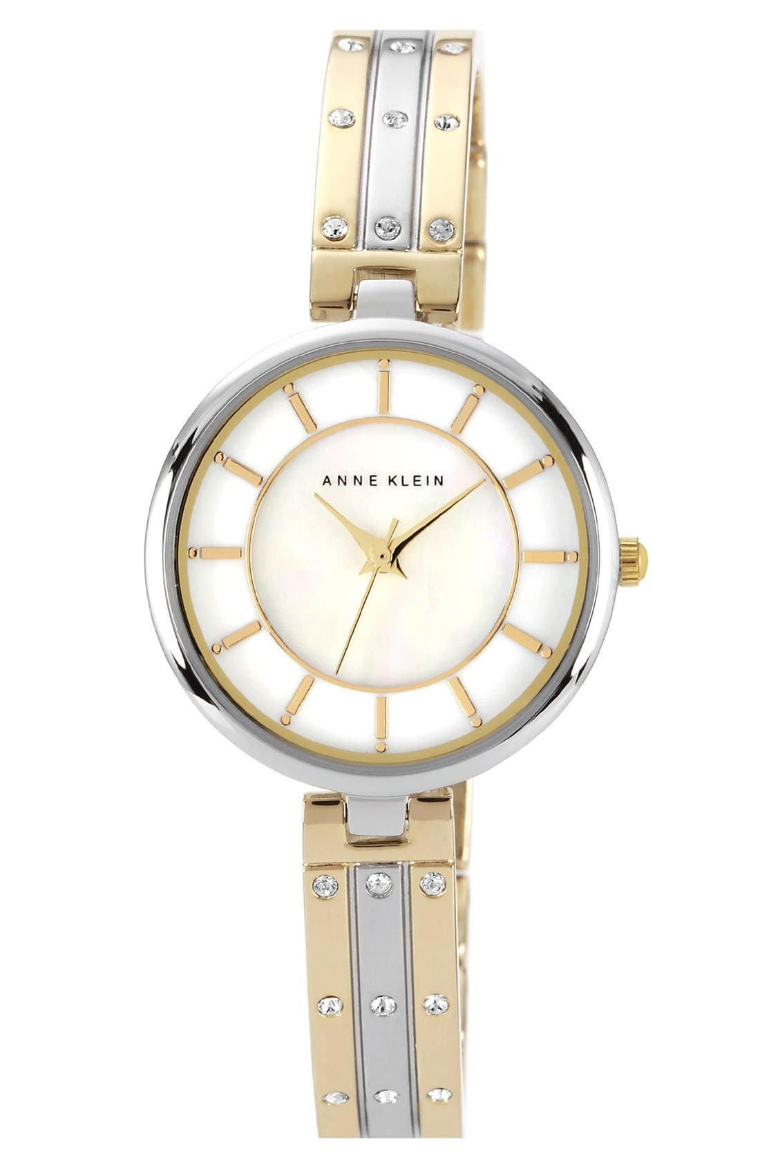 Main Image - Anne Klein Crystal Bangle Watch, 28mm