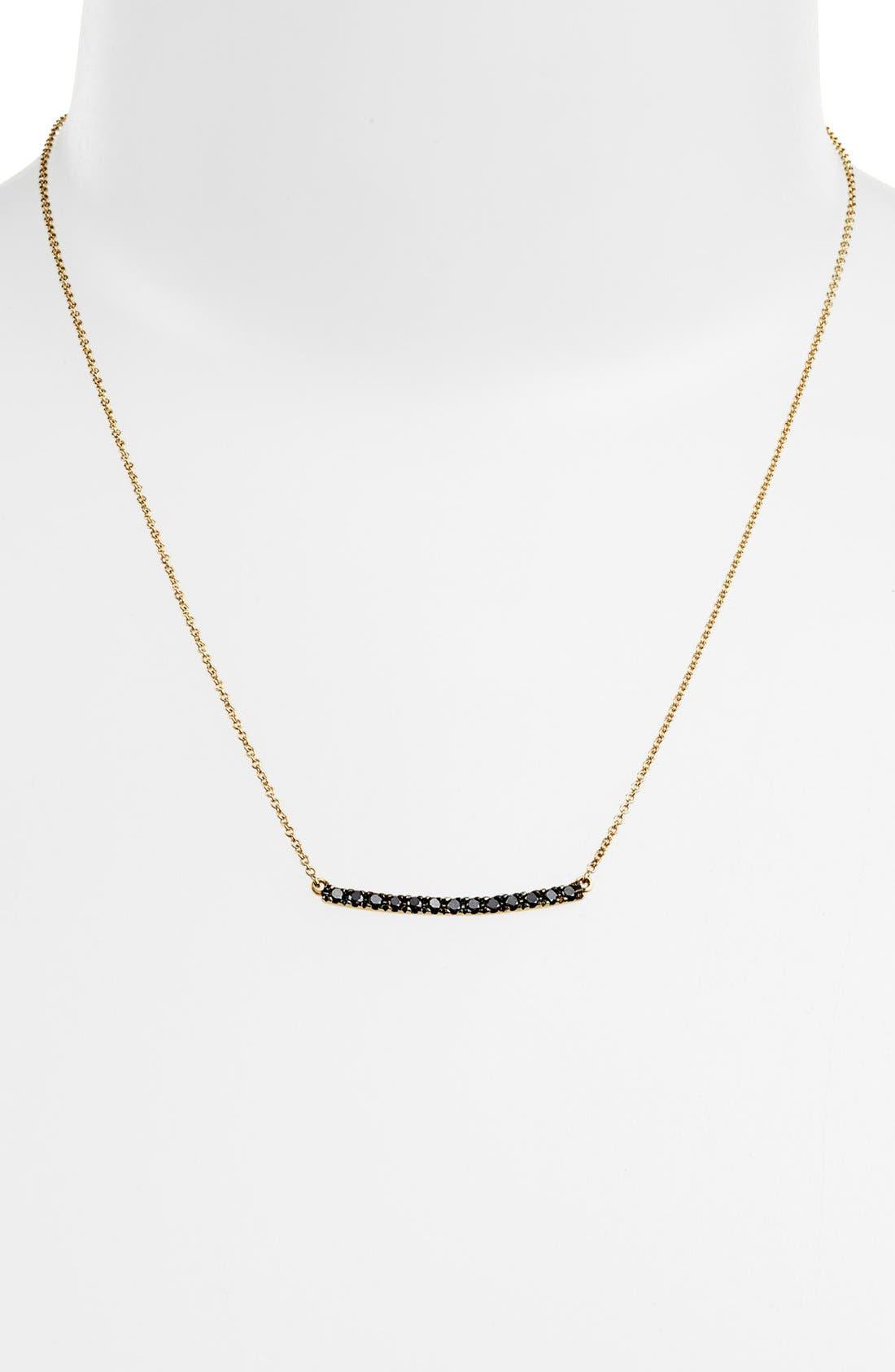 Alternate Image 2  - Bony Levy 'Stick' Pavé Black Diamond Bar Necklace (Nordstrom Exclusive)