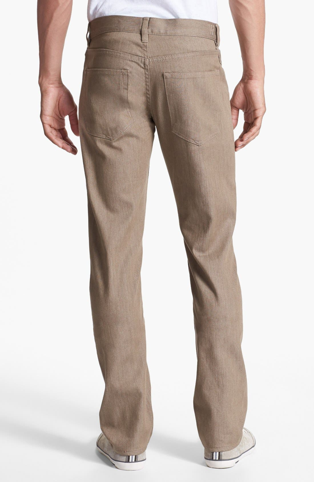 Alternate Image 2  - Williamsburg Garment Company 'S. 4th Street' Skinny Stretch Fit Jeans (Raw Tan)