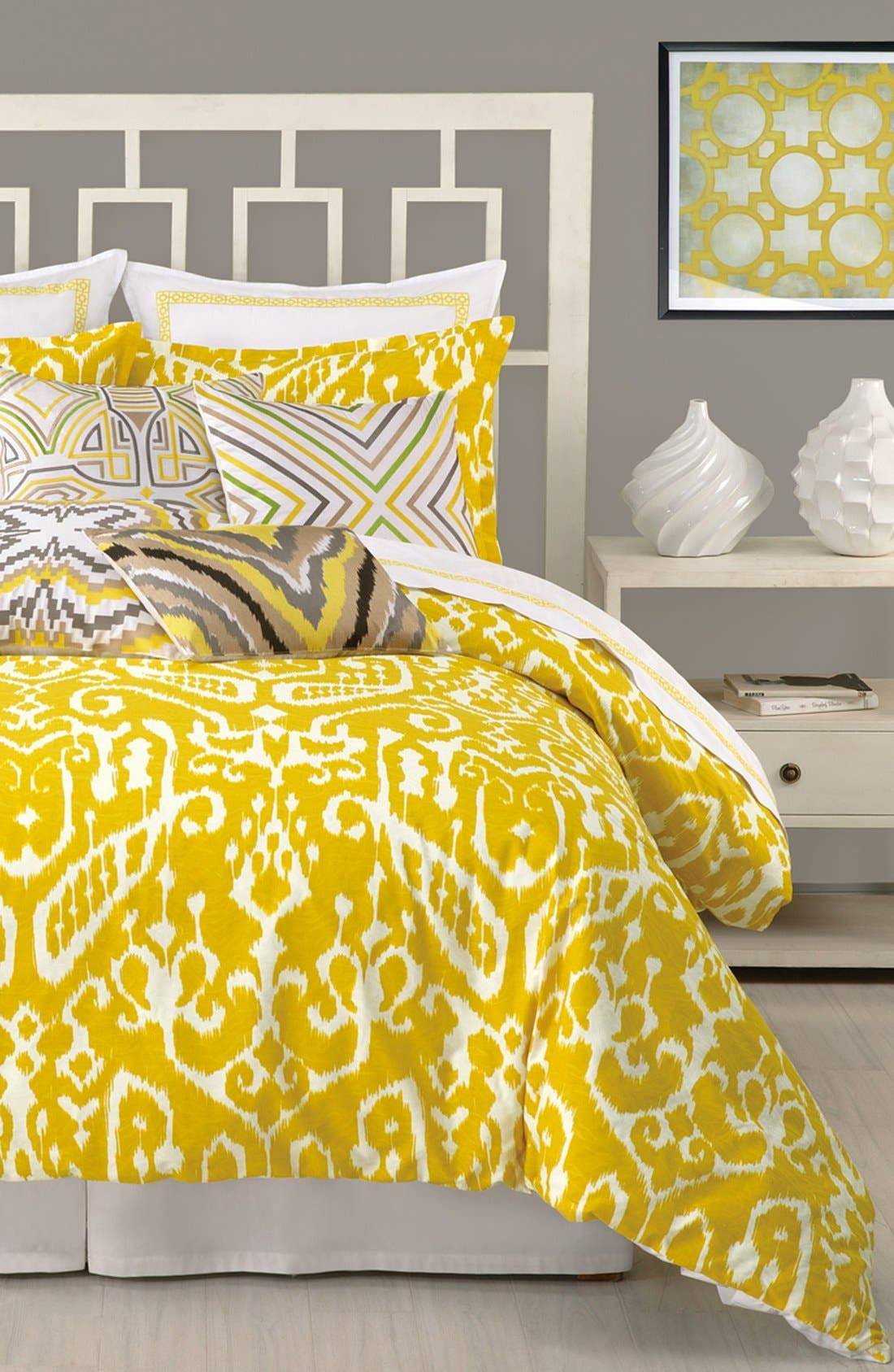 Alternate Image 1 Selected - Trina Turk Ikat Twin Duvet Cover & Sham