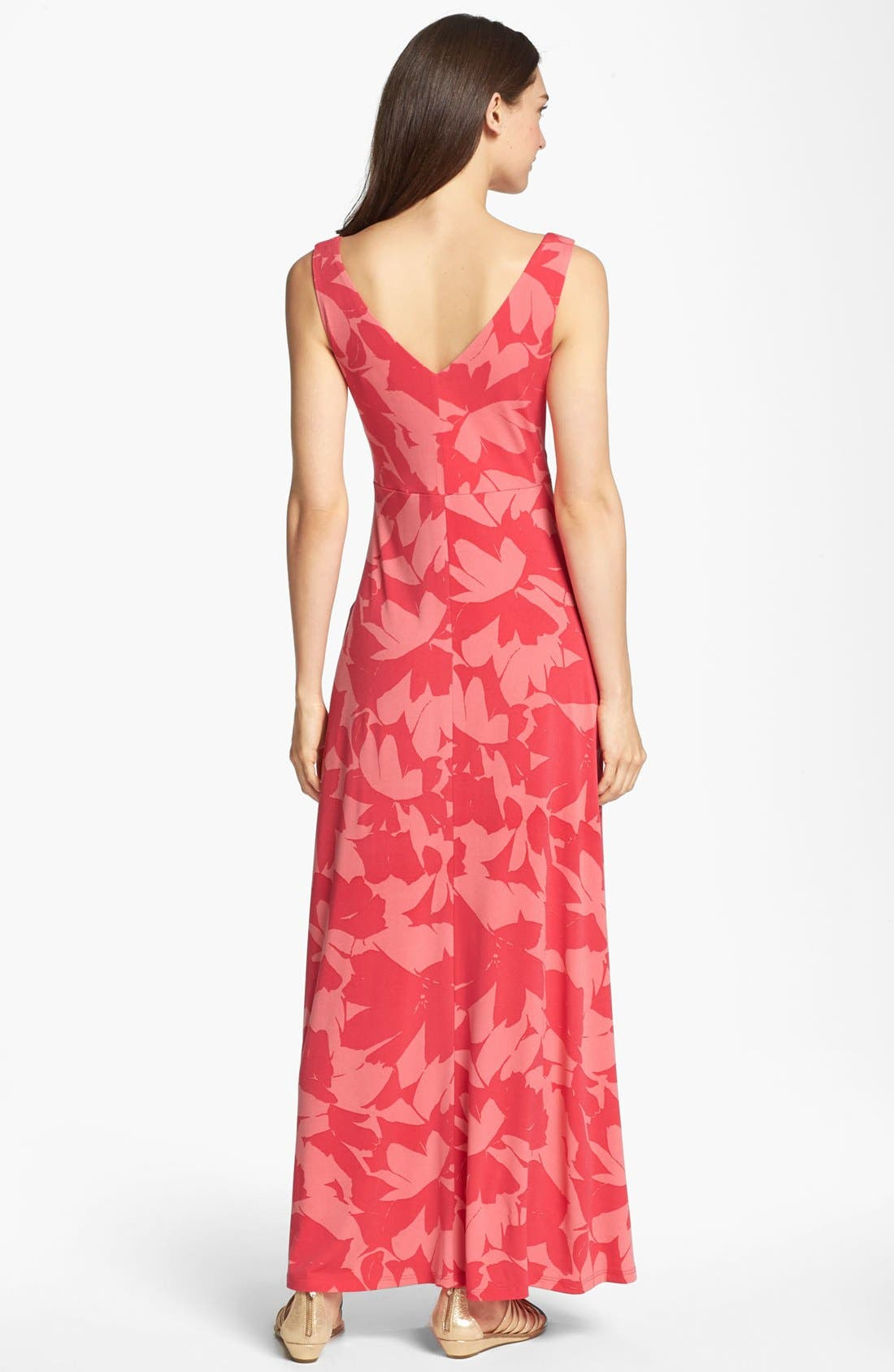 Alternate Image 2  - Isaac Mizrahi New York Print Jersey Maxi Dress