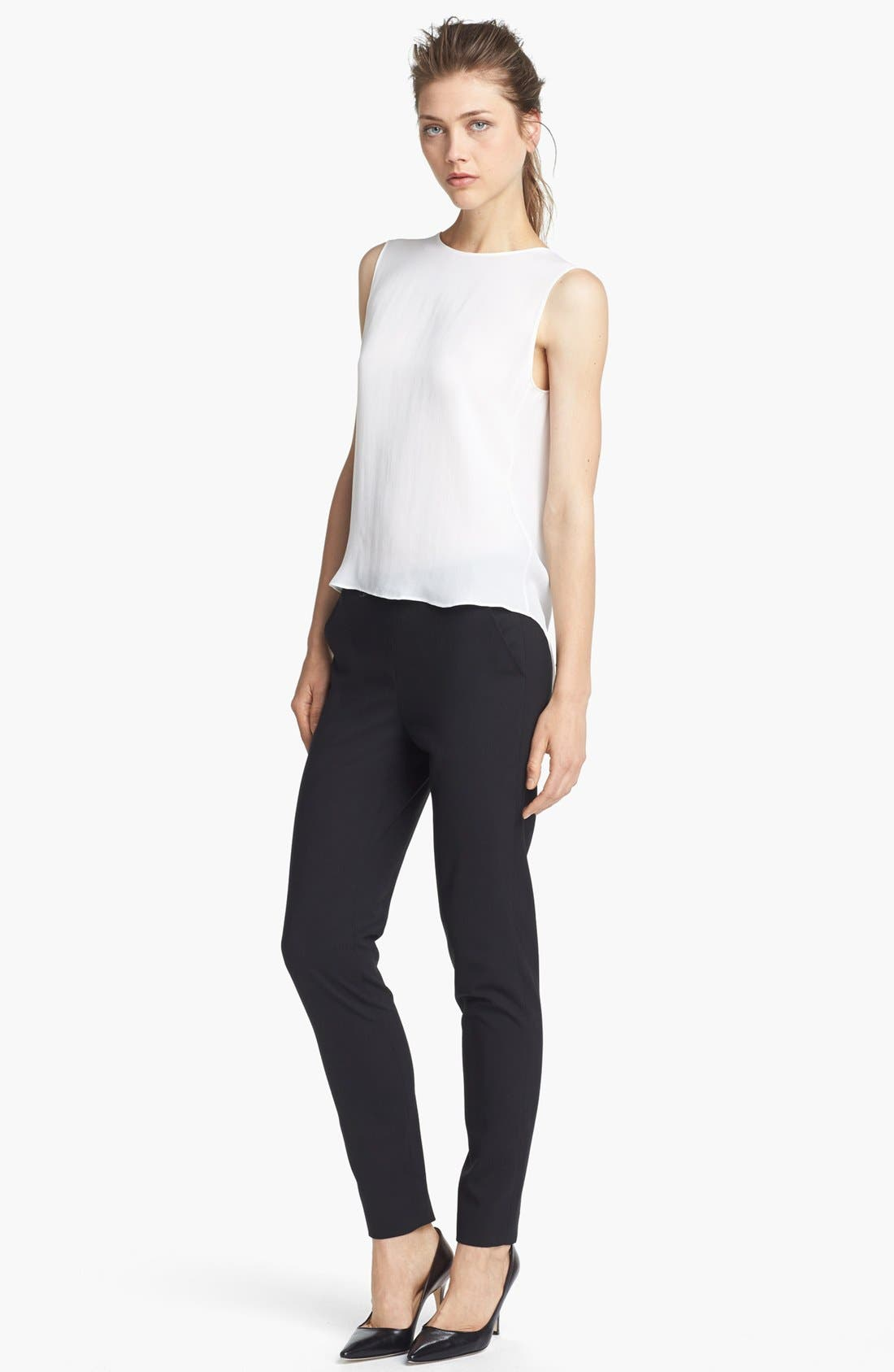 Alternate Image 1 Selected - Theyskens' Theory 'Boomy Faloon' High/Low Silk Top