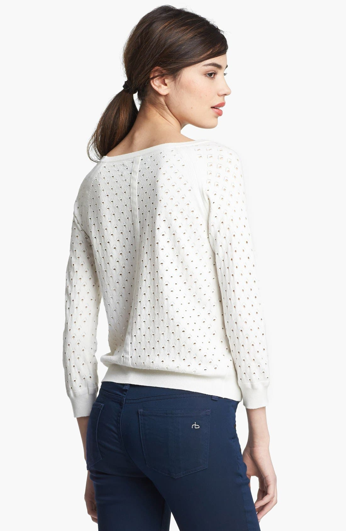 Alternate Image 2  - rag & bone 'Gianna' Perforated Pullover