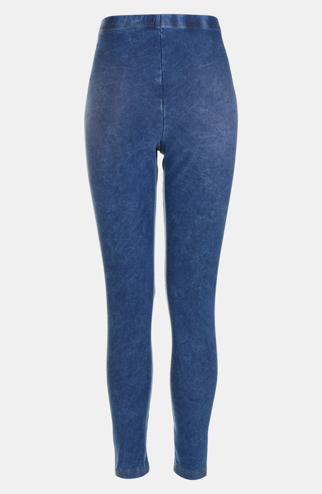 Alternate Image 2  - Topshop Acid Wash Maternity Leggings
