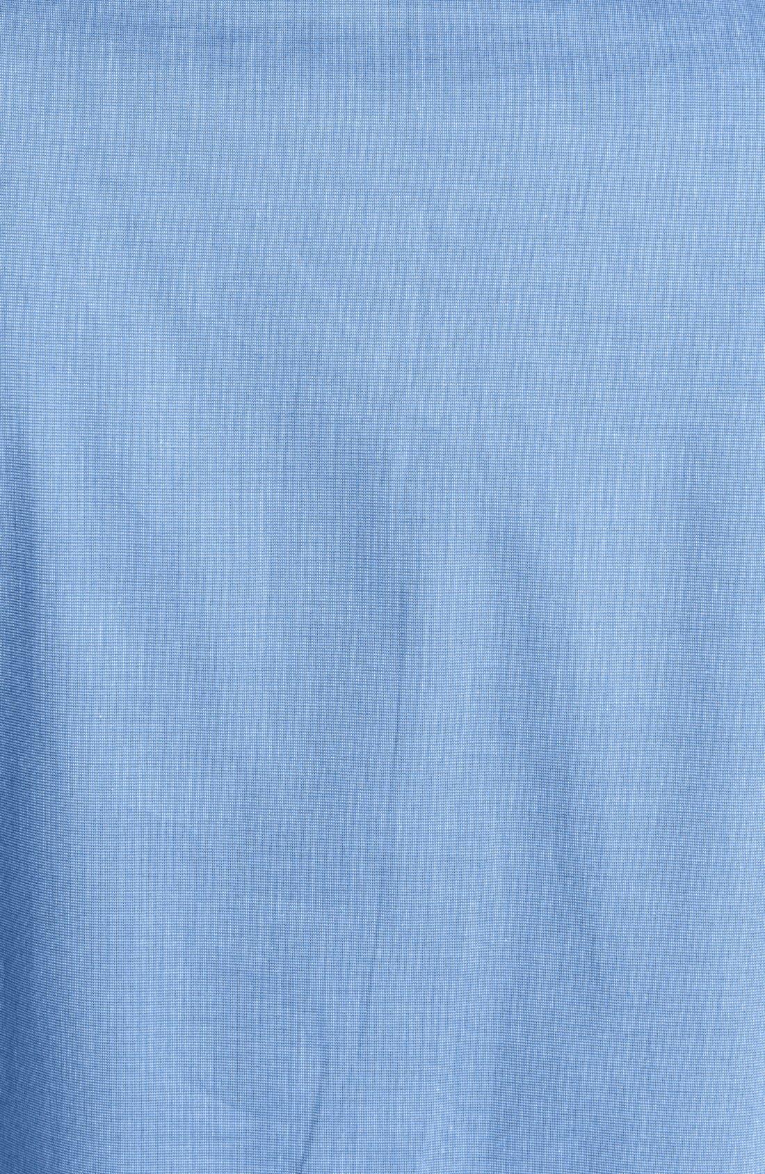 Cotton Nightshirt,                             Alternate thumbnail 3, color,                             Blue