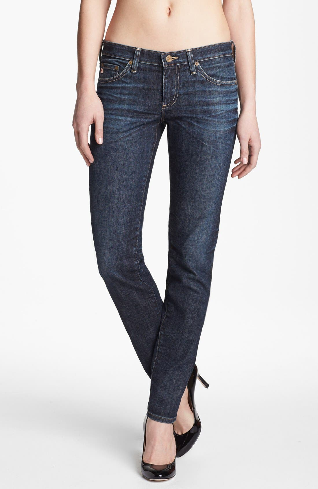 Main Image - AG 'The Stilt' Cigarette Leg Stretch Jeans (4 Year Coastline)