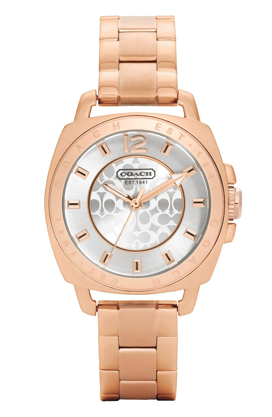 Main Image - COACH 'Boyfriend - Small' Bracelet Watch, 35mm