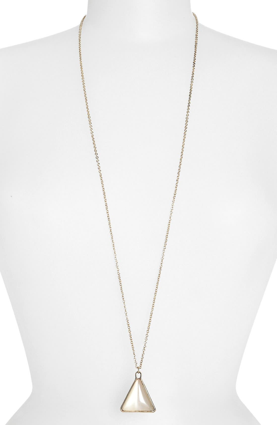 Main Image - Topshop 'Triangle' Pendant Necklace
