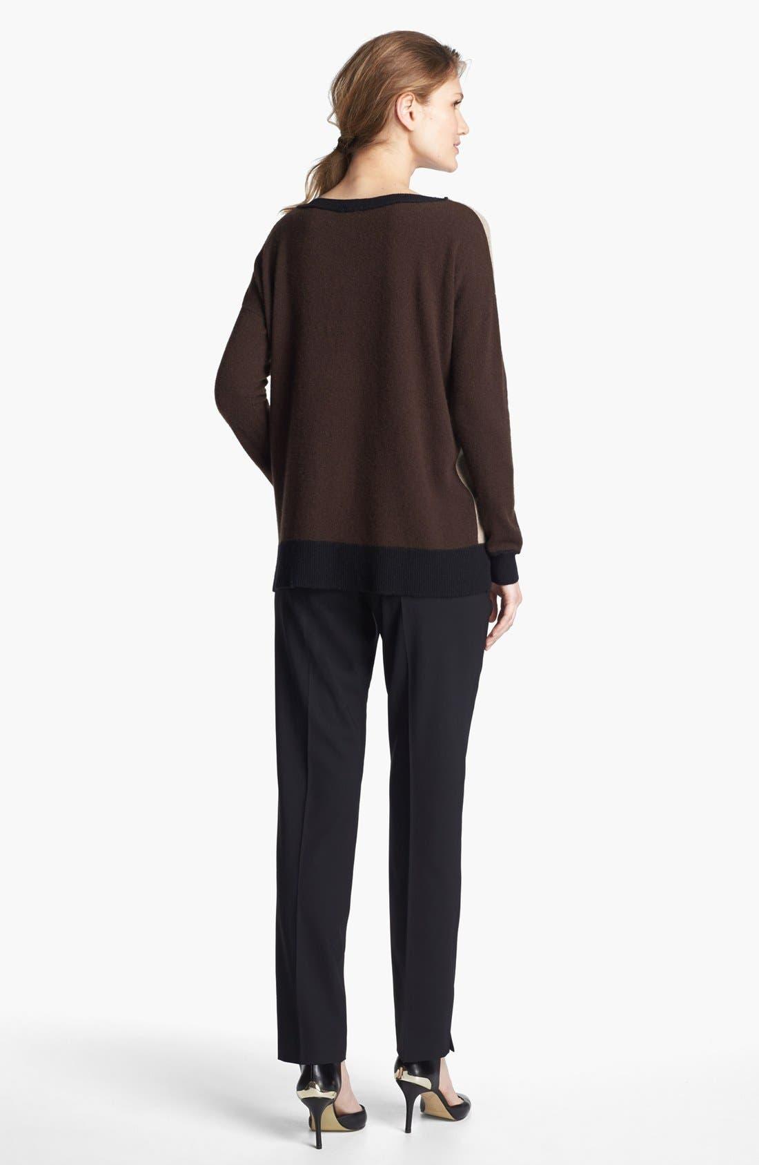 Colorblock Oversized Cashmere Sweater,                             Alternate thumbnail 4, color,                             Sand Multi