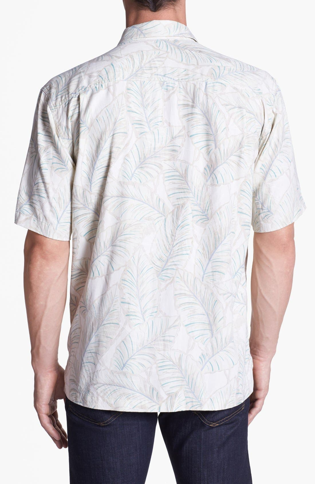 Alternate Image 2  - Tommy Bahama 'Leaves of Arabia' Silk Campshirt