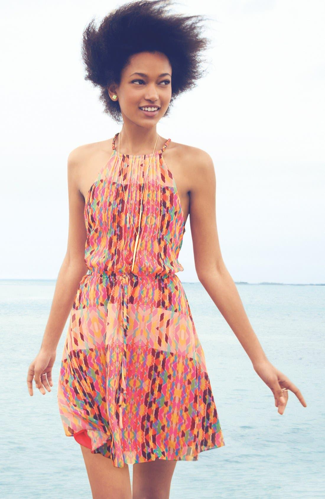 Alternate Image 5  - Jessica Simpson Print Pintucked Chiffon Dress