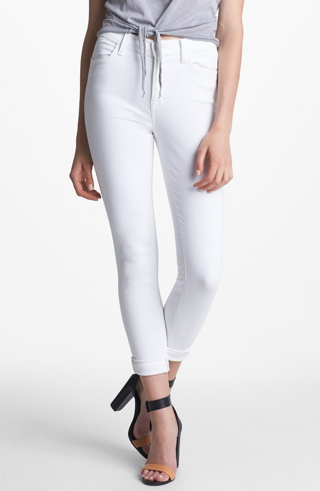 Main Image - J Brand 2311 Maria High Waist Skinny Jeans (Blanc)