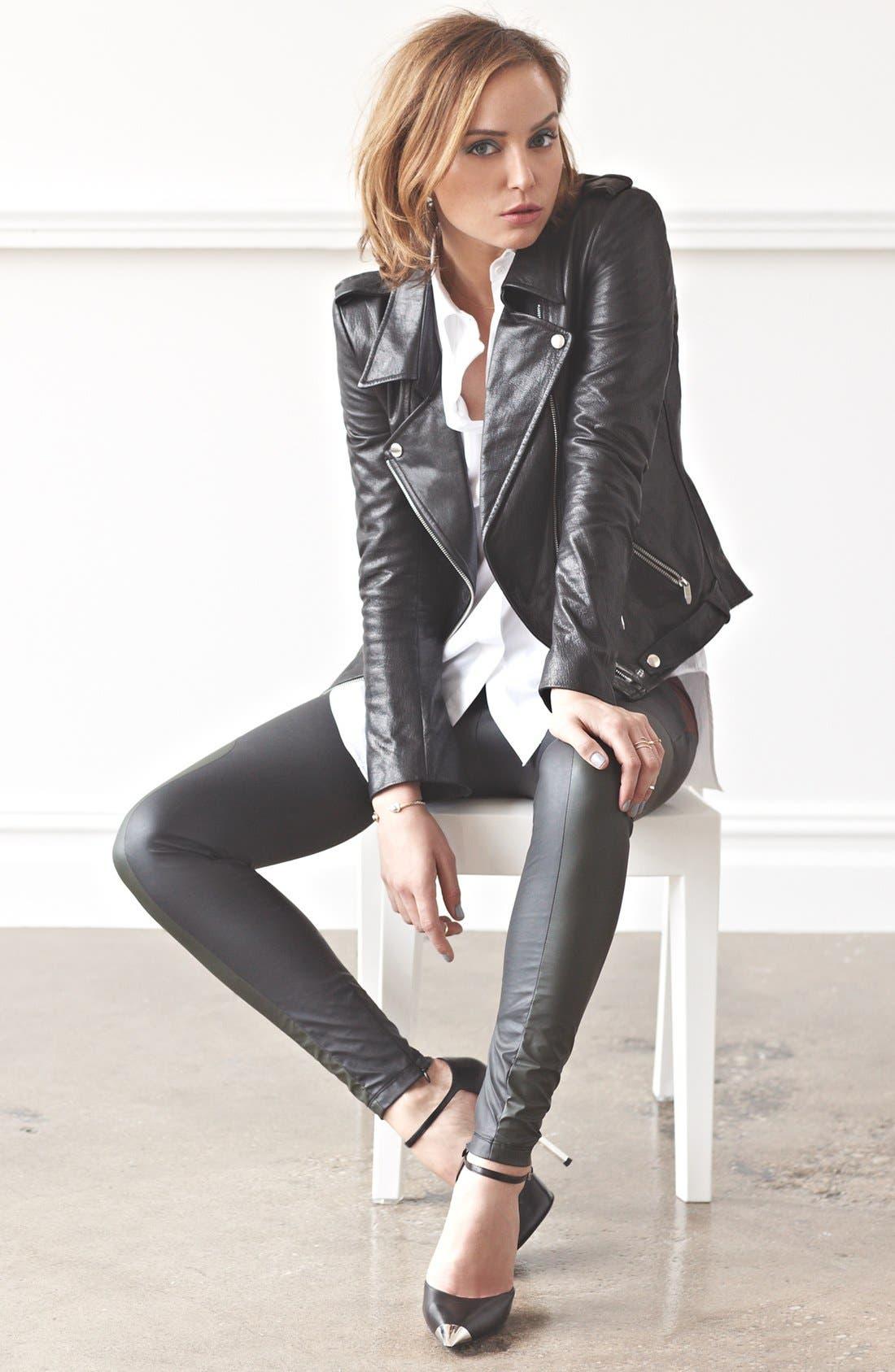Alternate Image 1 Selected - Theyskens' Theory Jacket & MSGM Leather Leggings