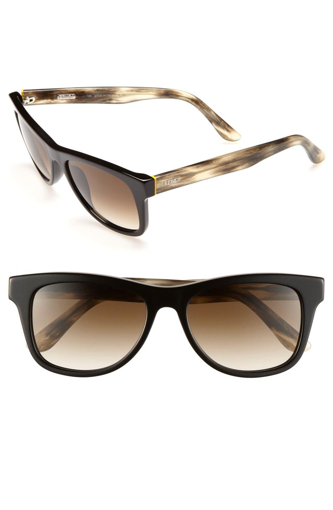 Main Image - Fendi 53mm Retro Sunglasses