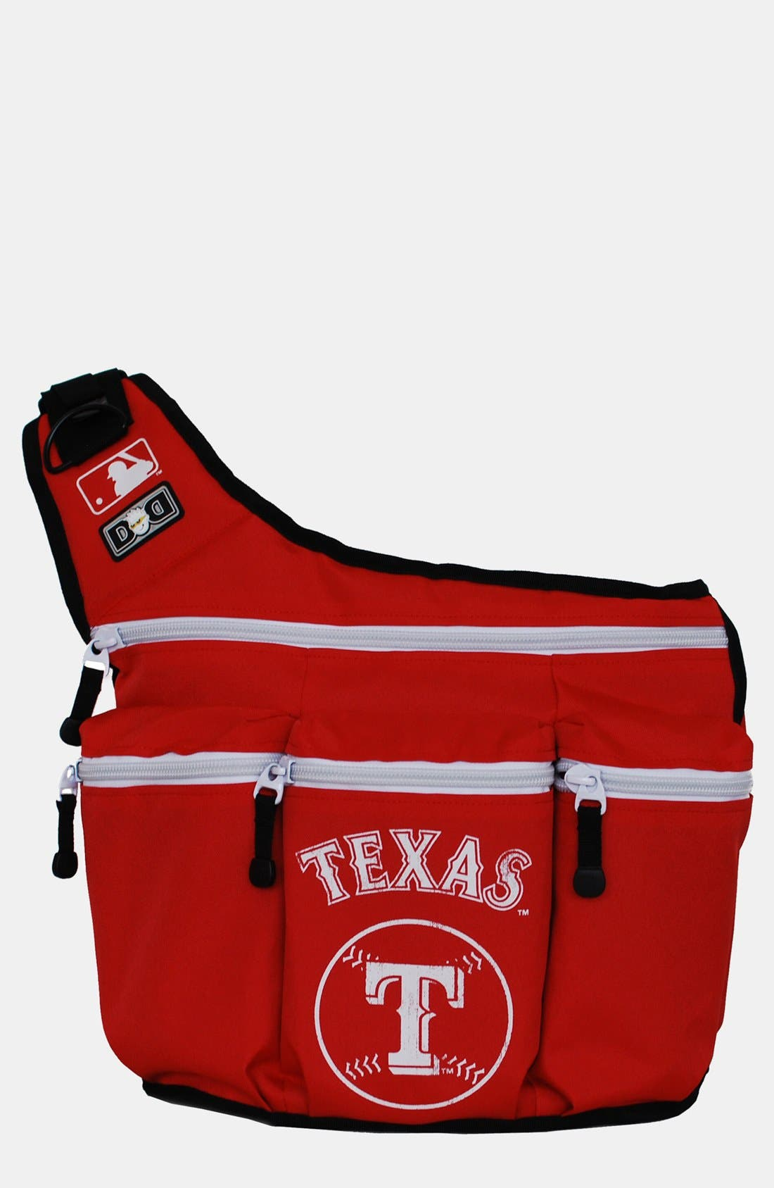 'Texas Rangers' Messenger Diaper Bag,                             Main thumbnail 1, color,                             Red