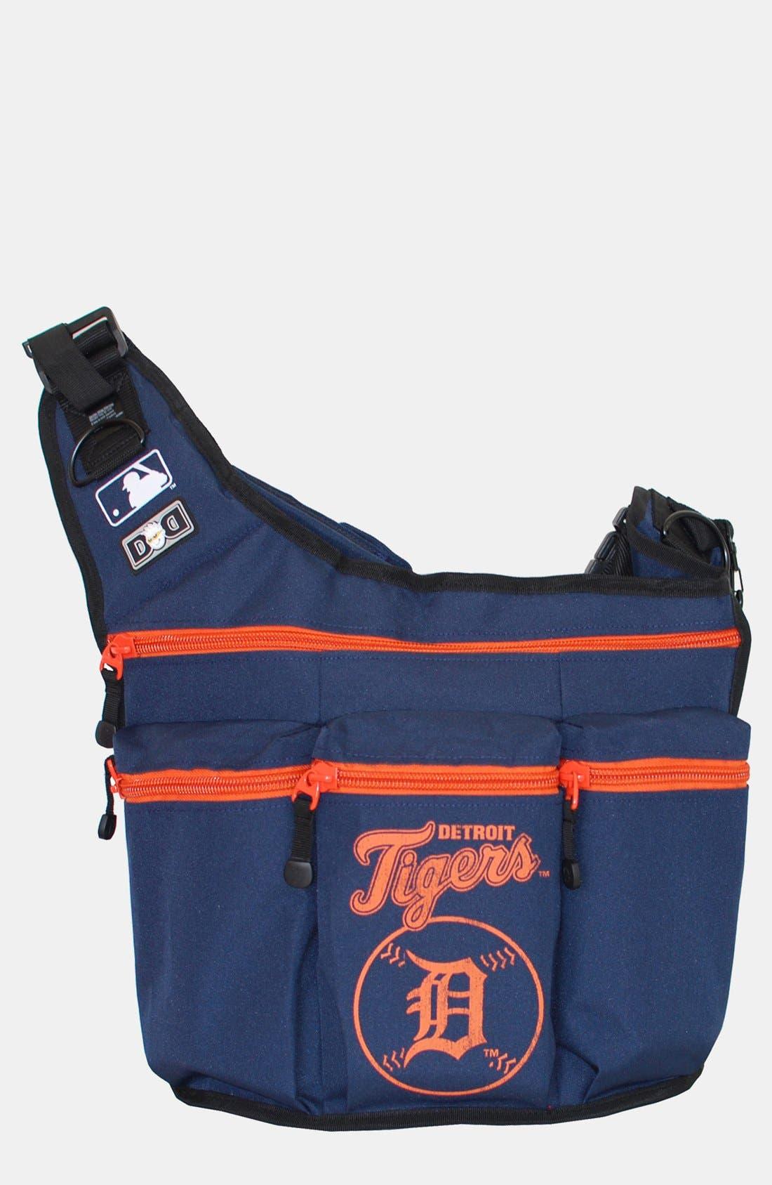 Alternate Image 1 Selected - Diaper Dude 'Detroit Tigers' Messenger Diaper Bag