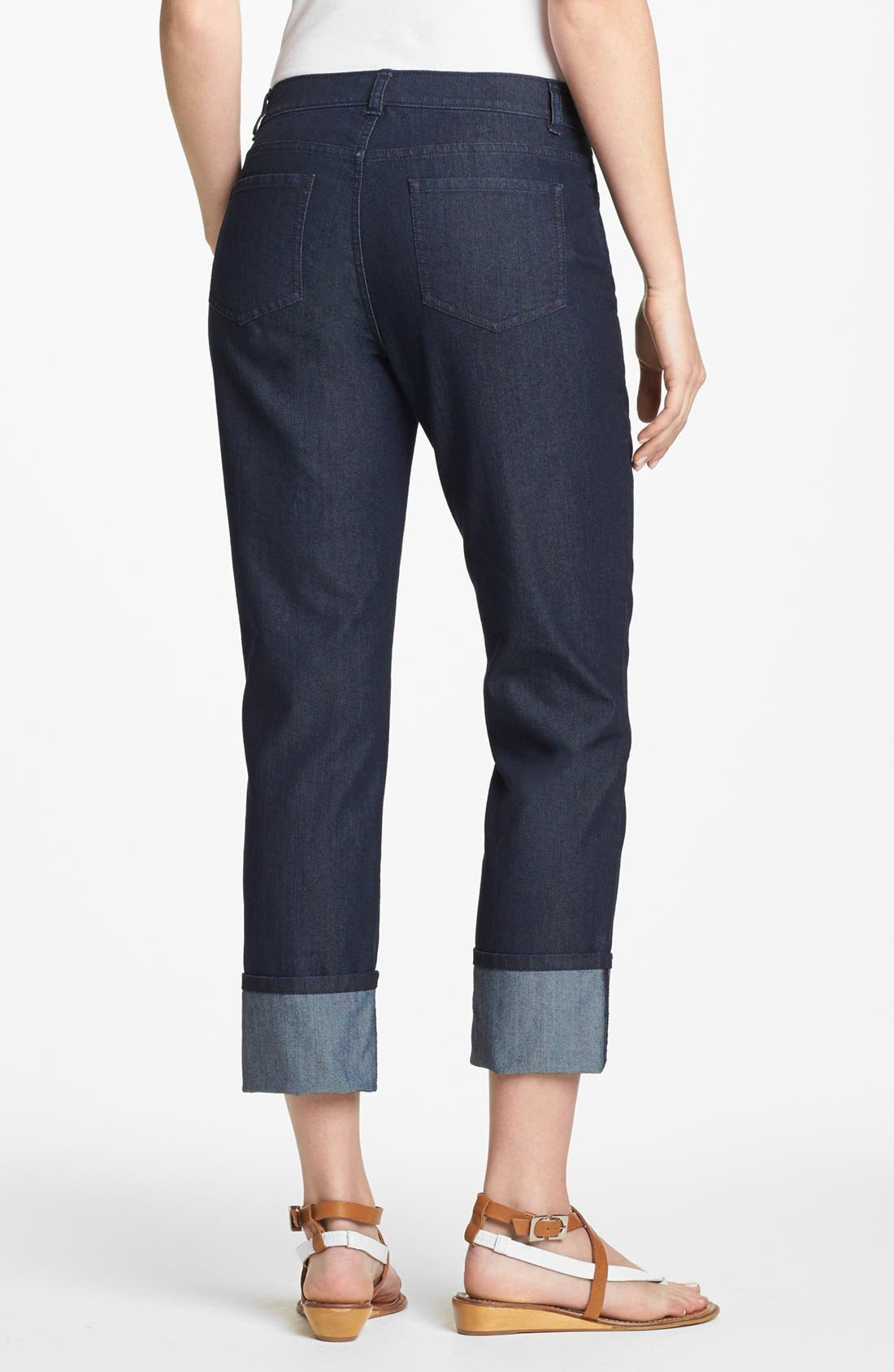Alternate Image 2  - Lafayette 148 New York Curvy Fit Crop Jeans