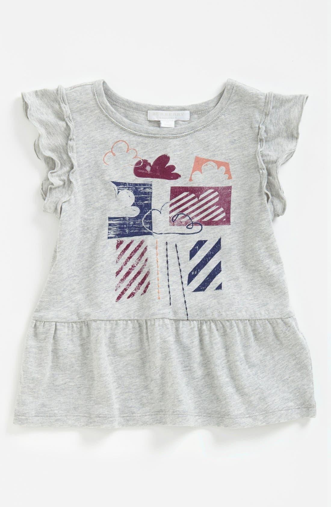 Main Image - Burberry 'Cloudy' Peplum Ruffle Top (Toddler Girls, Little Girls & Big Girls)