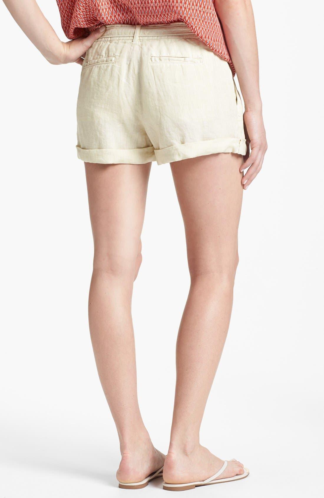 'Jewell' Linen Shorts,                             Alternate thumbnail 2, color,                             Sand