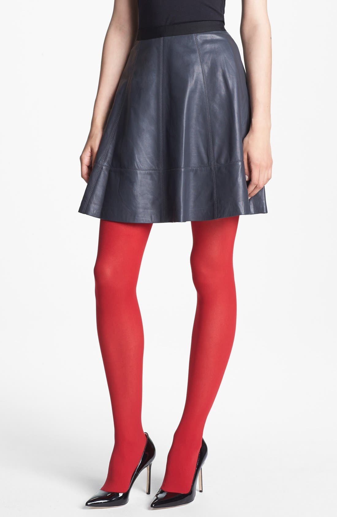 Main Image - Miss Wu Leather Circle Skirt (Nordstrom Exclusive)