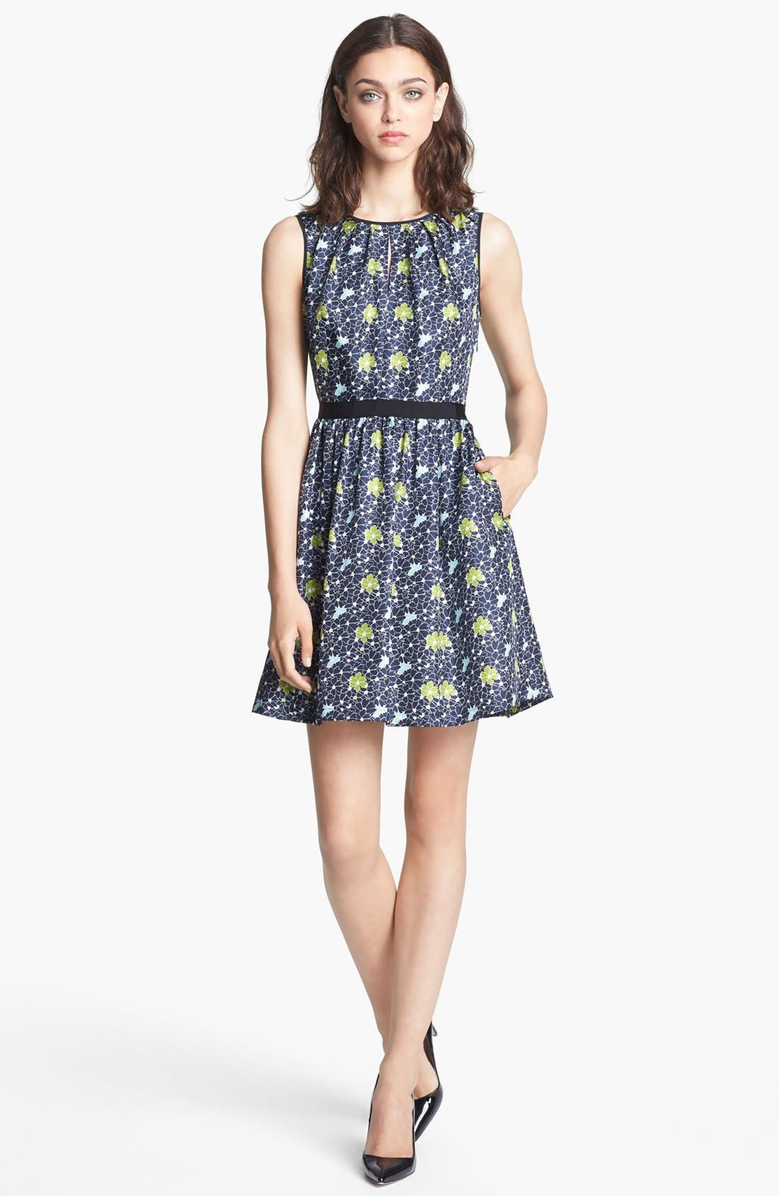 Main Image - Miss Wu Packed Floral Print Dress (Nordstrom Exclusive)