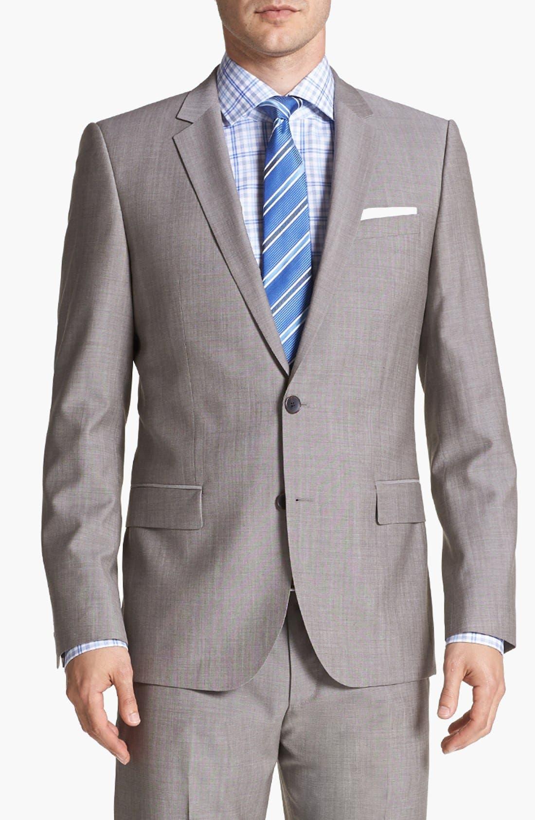 Alternate Image 4  - HUGO 'Amaro/Heise' Extra Trim Fit Suit