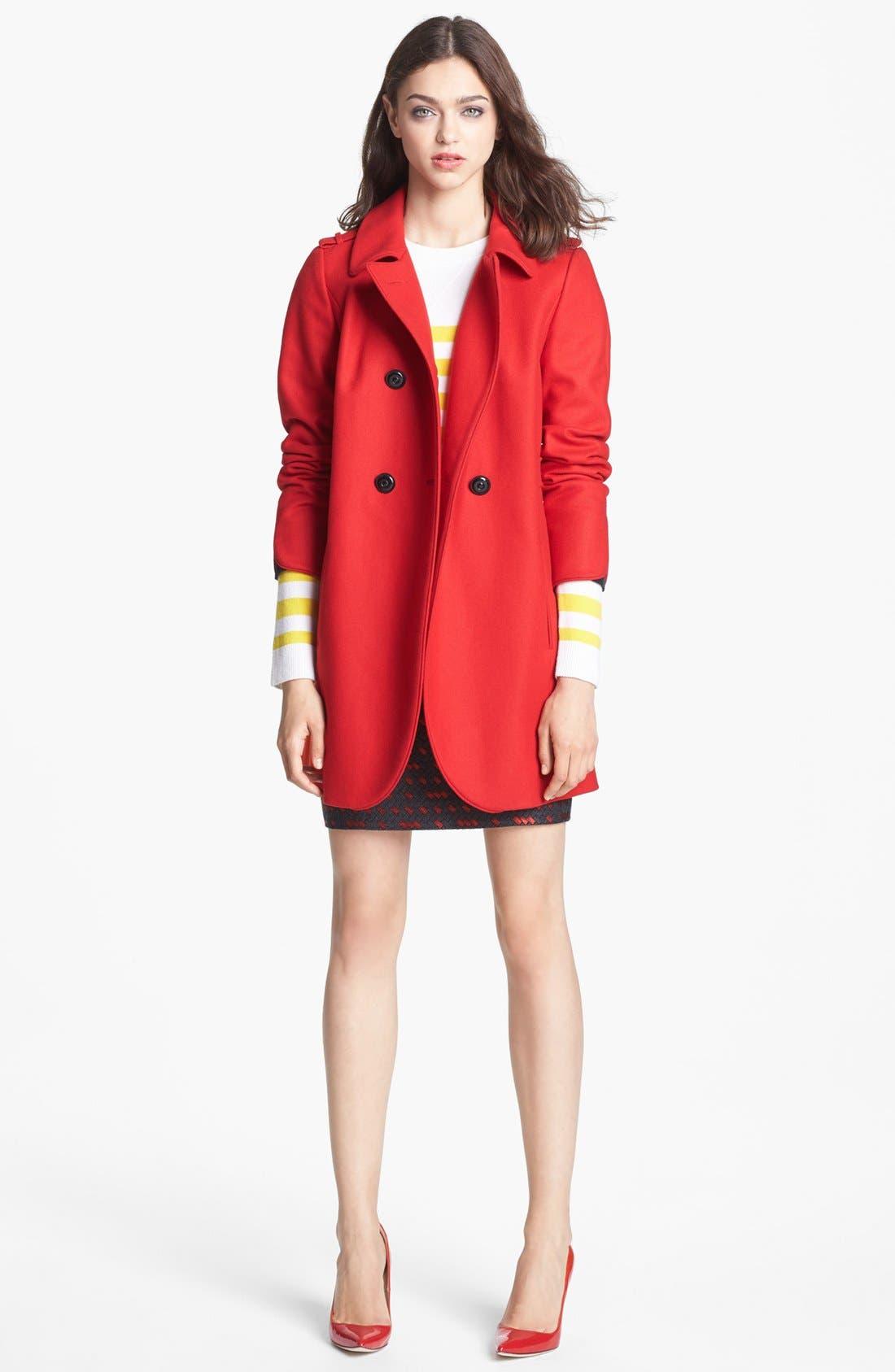 Alternate Image 2  - Miss Wu 'Torre' Wool Blend Military Jacket (Nordstrom Exclusive)