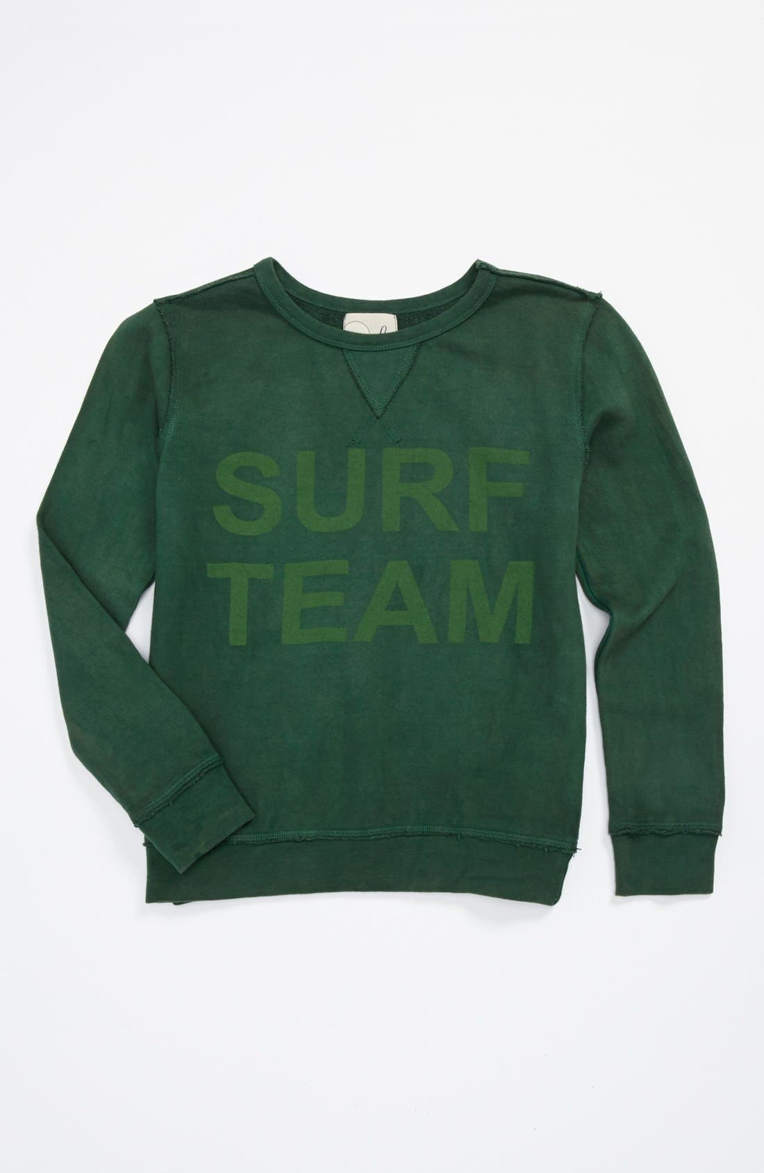 Alternate Image 1 Selected - Peek 'Surf Team' Sweatshirt (Toddler Boys, Little Boys & Big Boys)