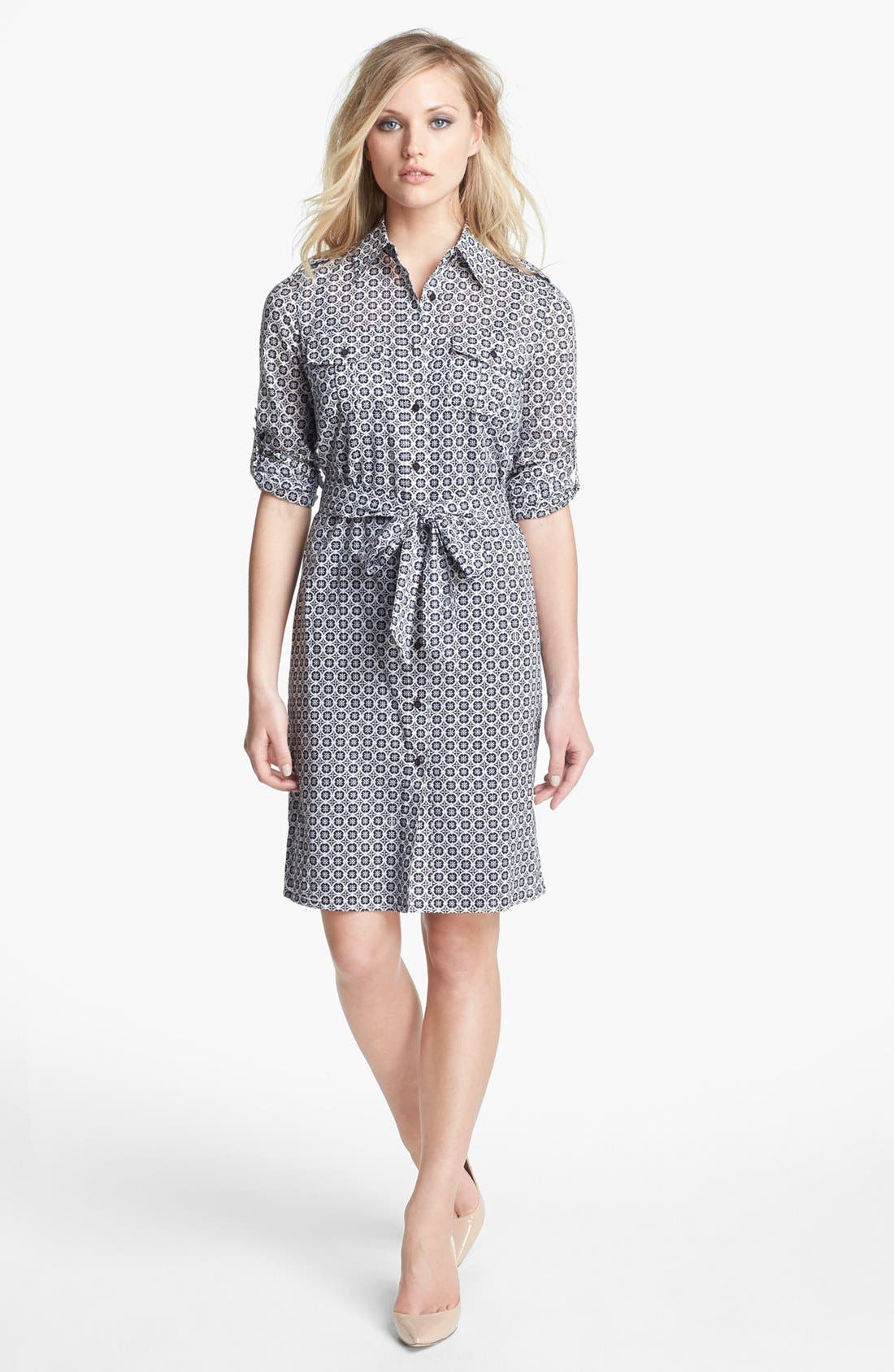 Alternate Image 1 Selected - Tory Burch 'Brigitte' Cotton Shirtdress