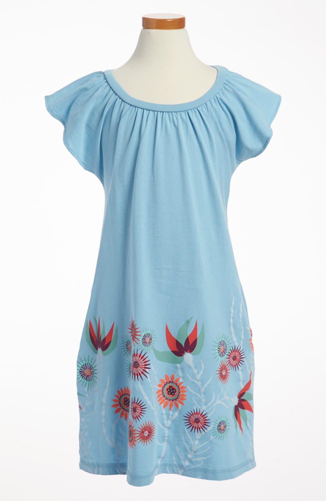 Alternate Image 1 Selected - Tea Collection 'Anemone Garden' Minidress (Little Girls & Big Girls)