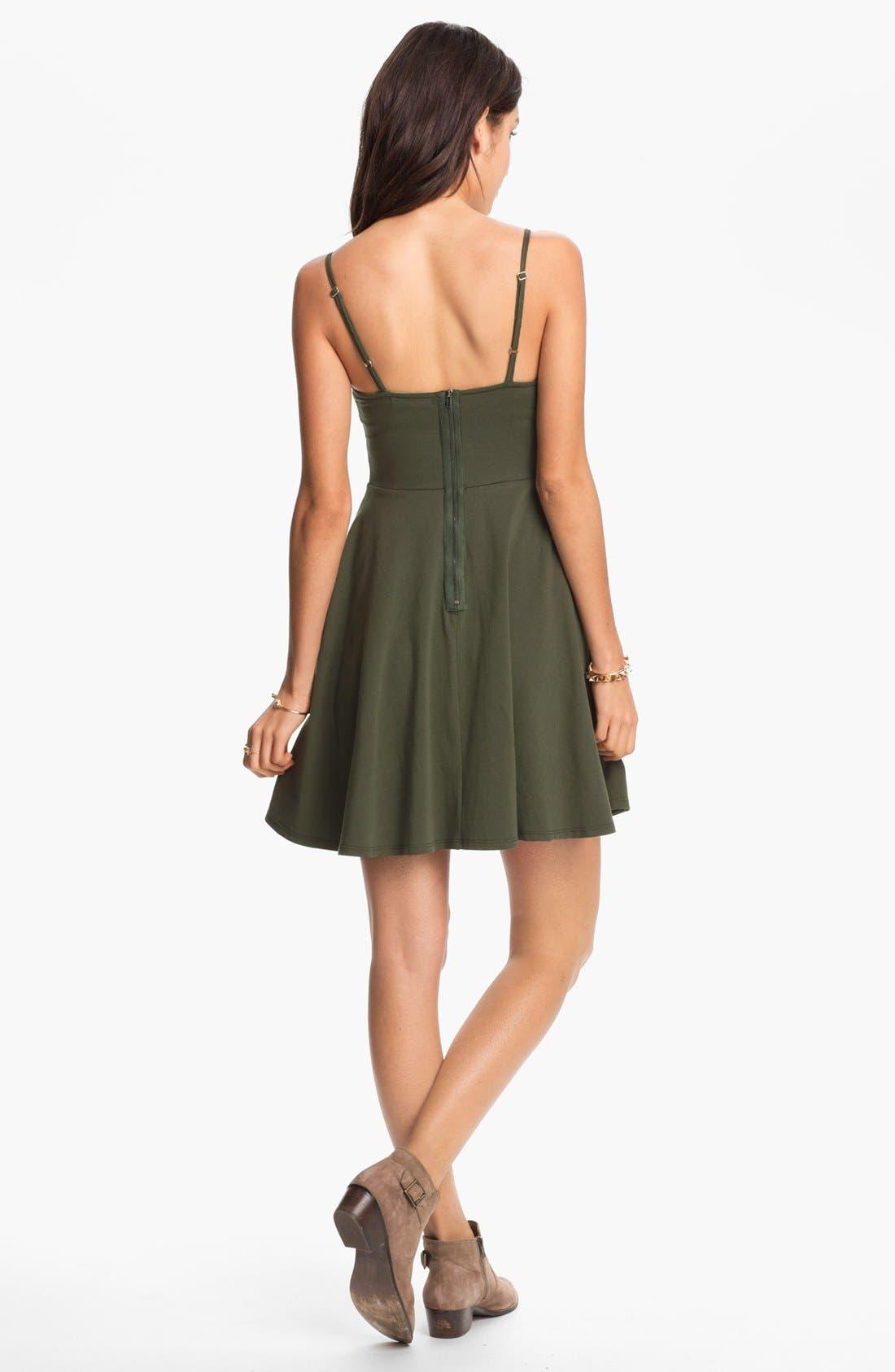 Alternate Image 2  - Fire Studded Bustier Dress (Juniors) (Online Only)