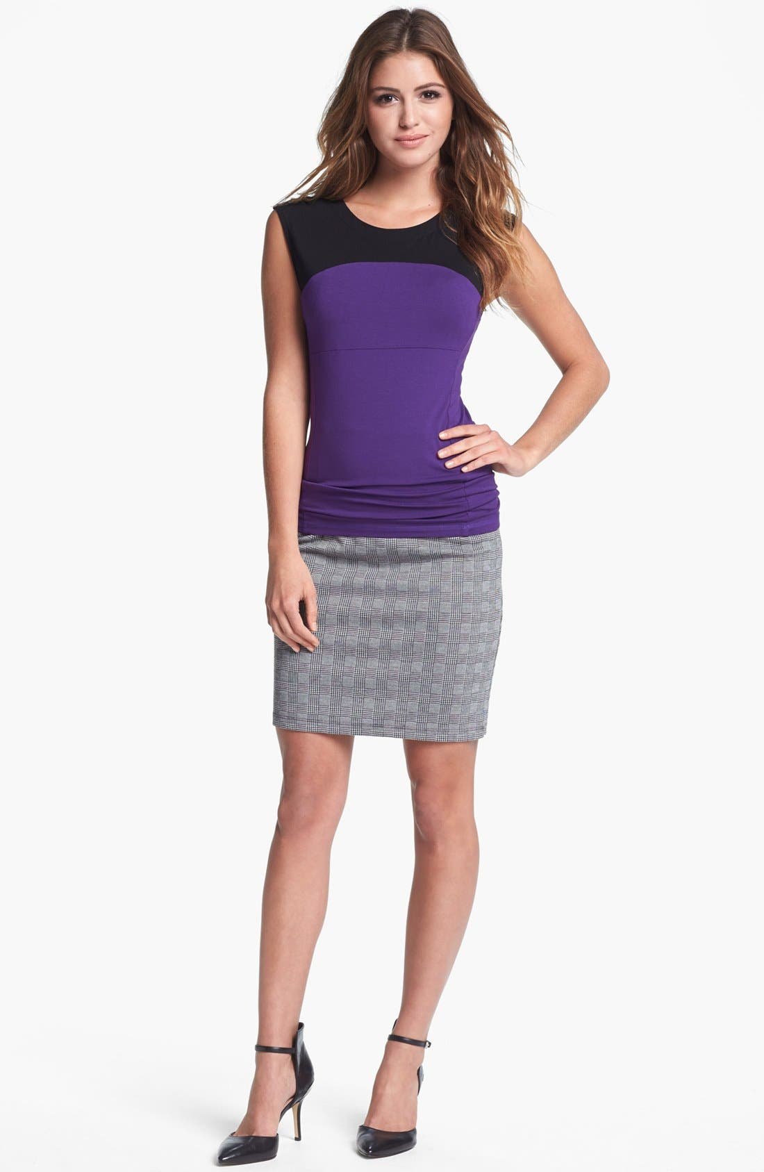 Alternate Image 6  - Vince Camuto Side Zip Glen Plaid Pencil Skirt (Nordstrom Exclusive)