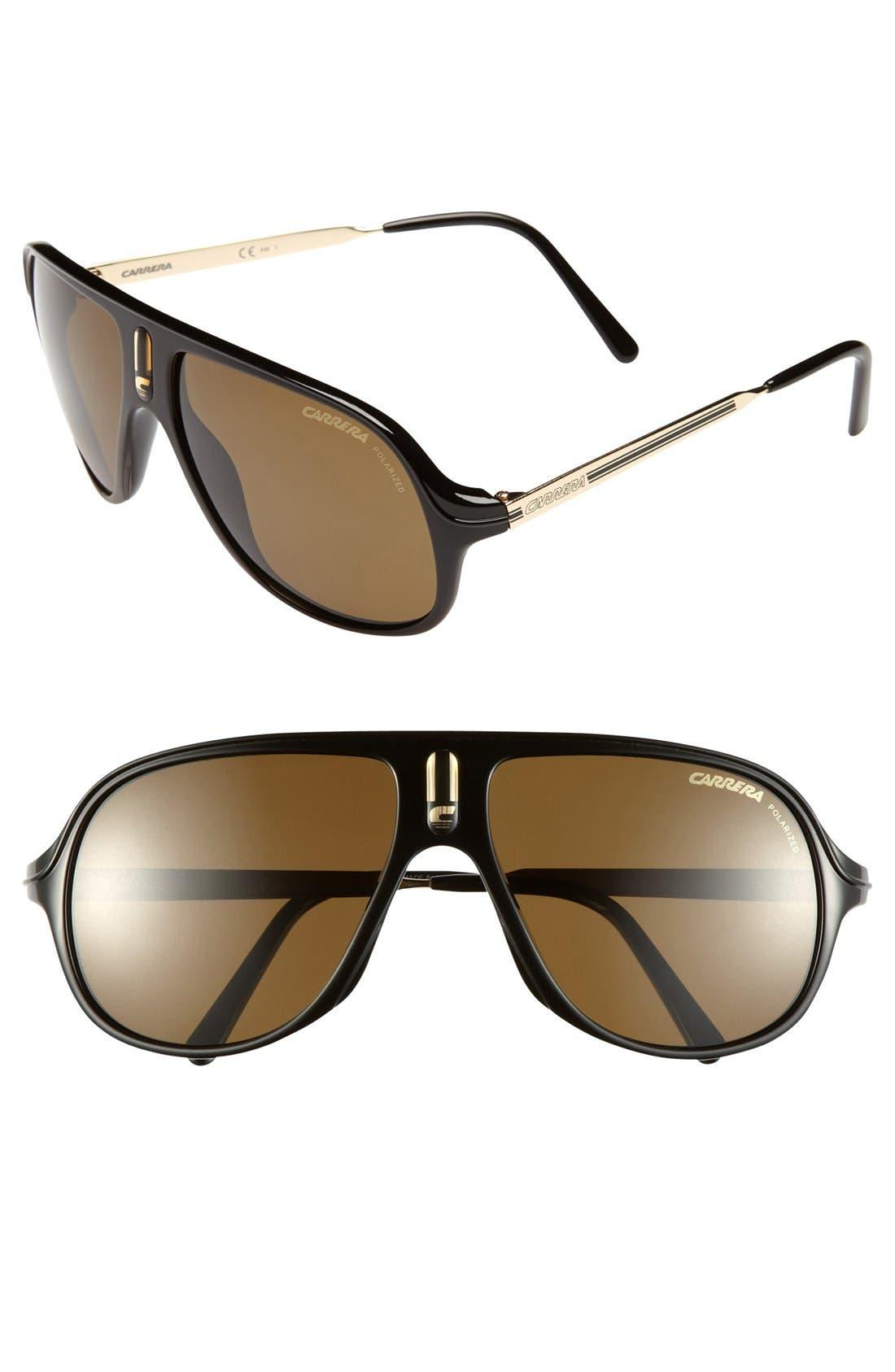 Alternate Image 1 Selected - Carrera Eyewear 'Safari' 62mm Retro Inspired Aviator Sunglasses