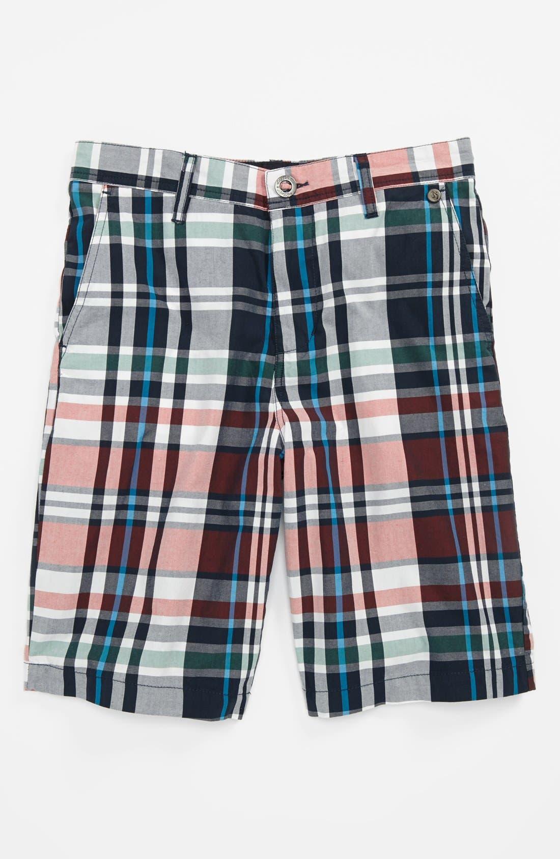 Main Image - Volcom 'Adit' Plaid Shorts (Little Boys & Big Boys)
