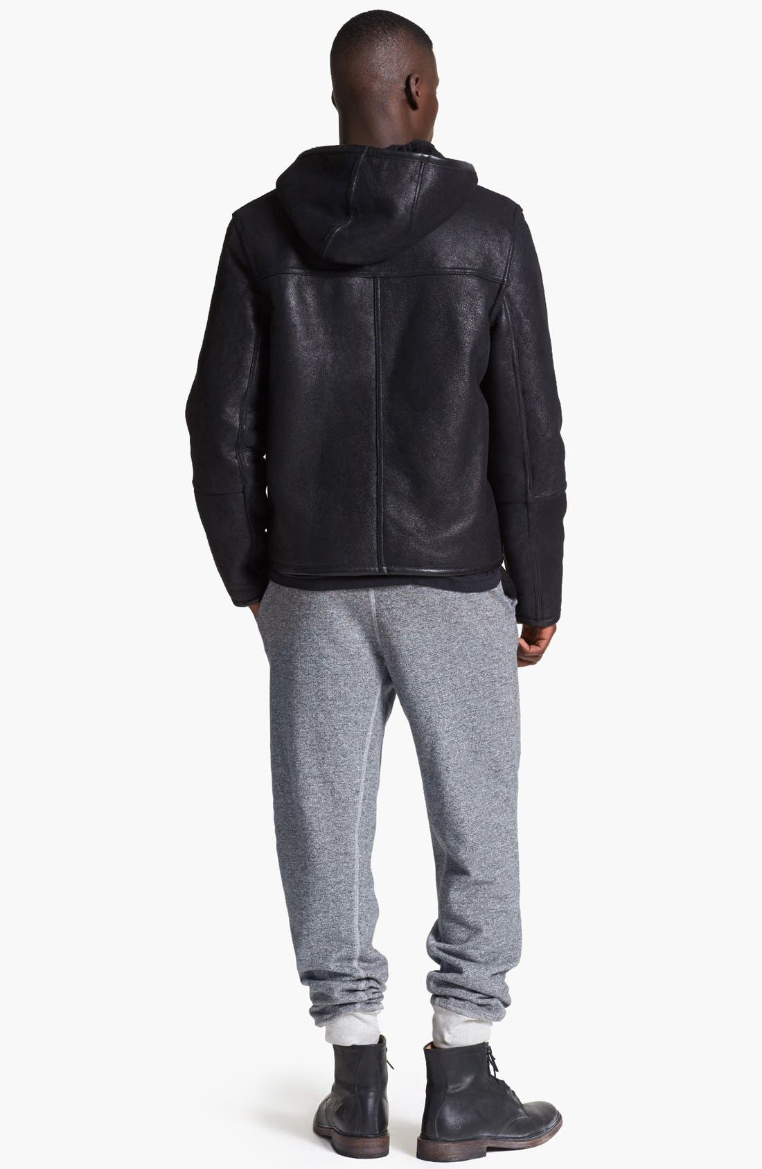 Alternate Image 6  - T by Alexander Wang Reversible Genuine Shearling Leather Jacket