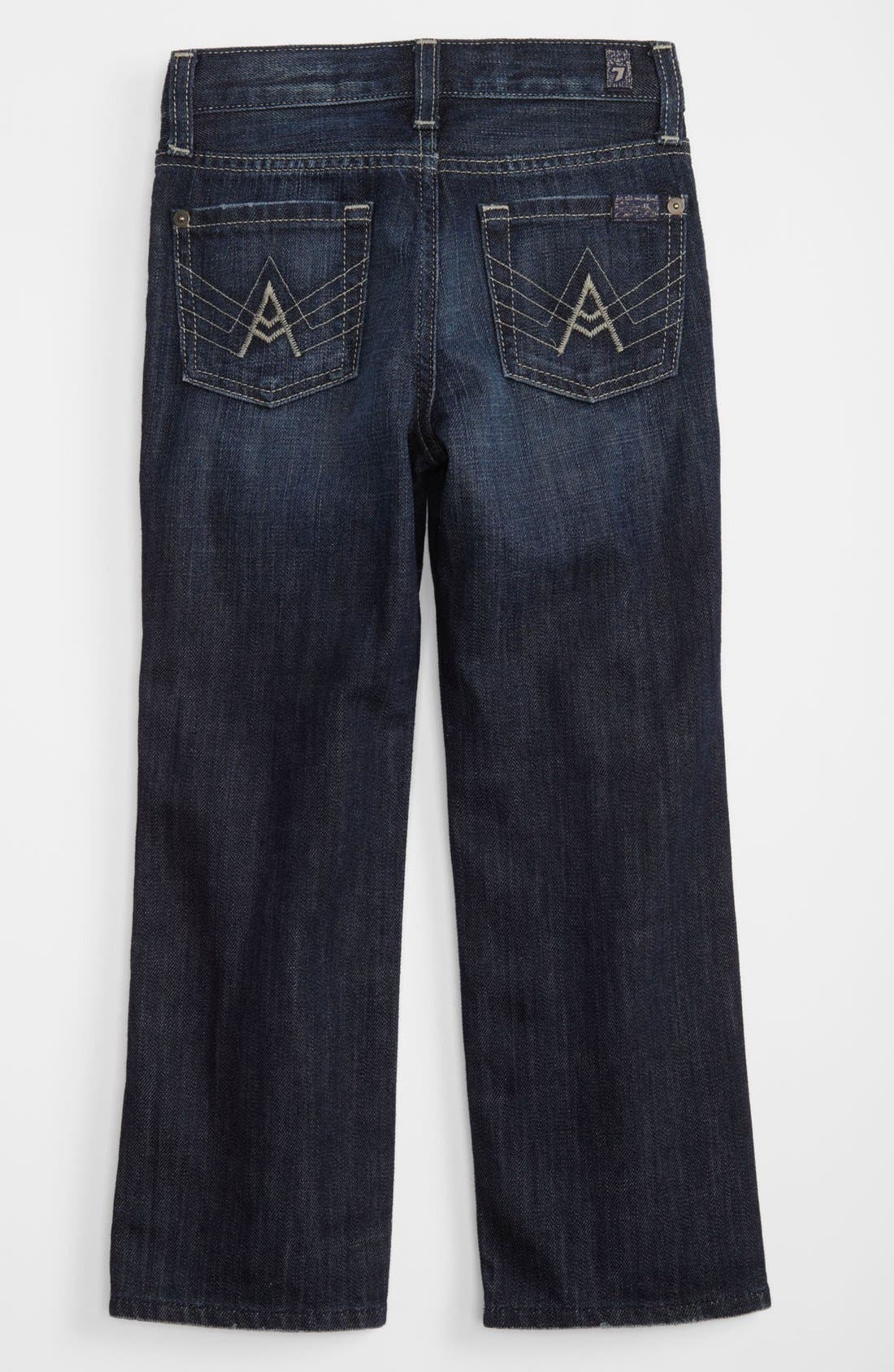 Main Image - 7 For All Mankind® 'Standard' Straight Leg Jeans (Little Boys & Big Boys) (Online Only)