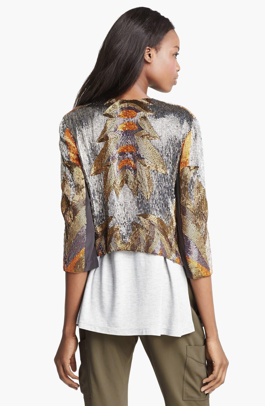 Alternate Image 4  - Haute Hippie 'Fire' Bead Embellished Silk Jacket